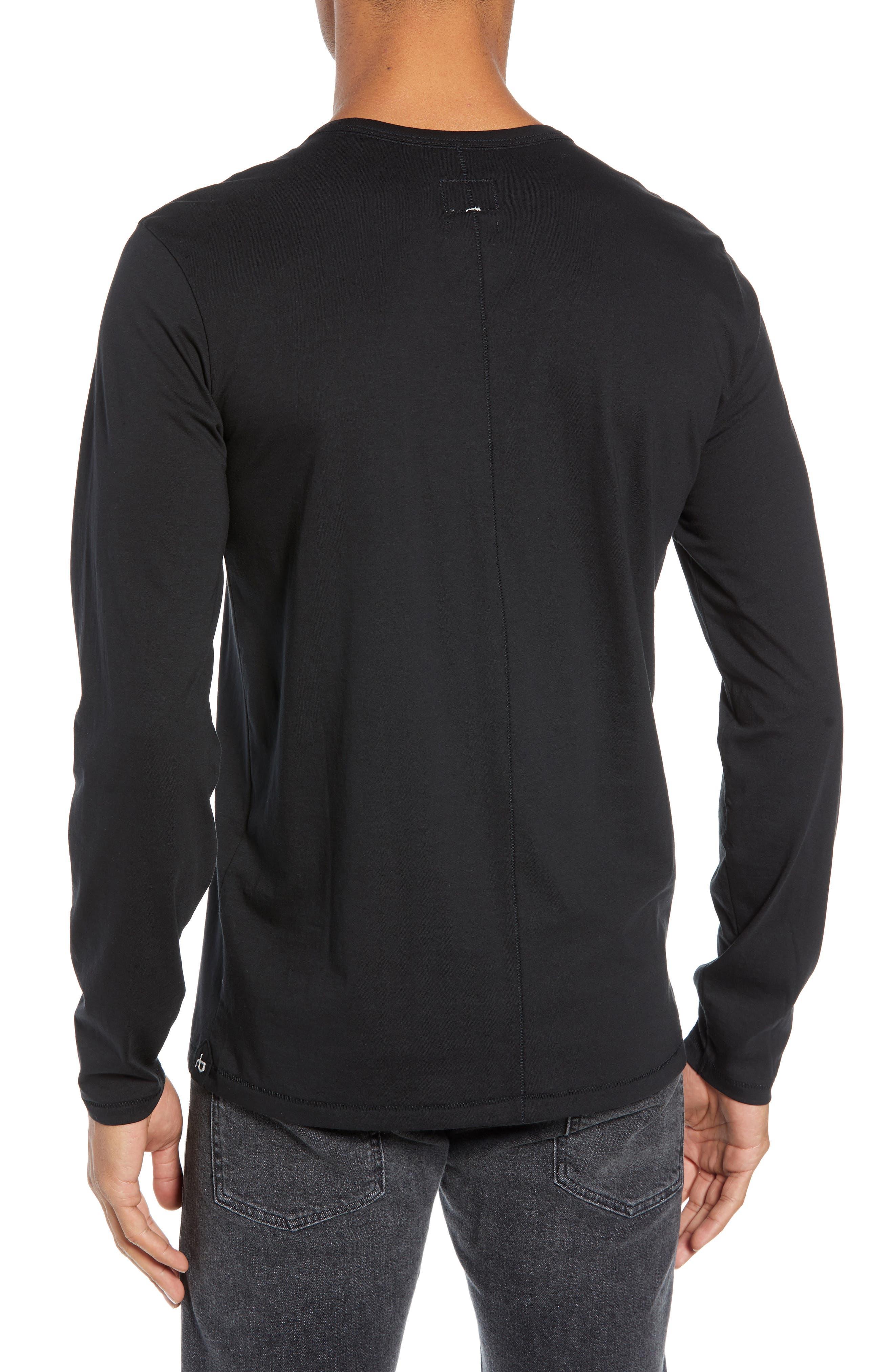 RAG & BONE, Classic Base T-Shirt, Alternate thumbnail 2, color, BLACK