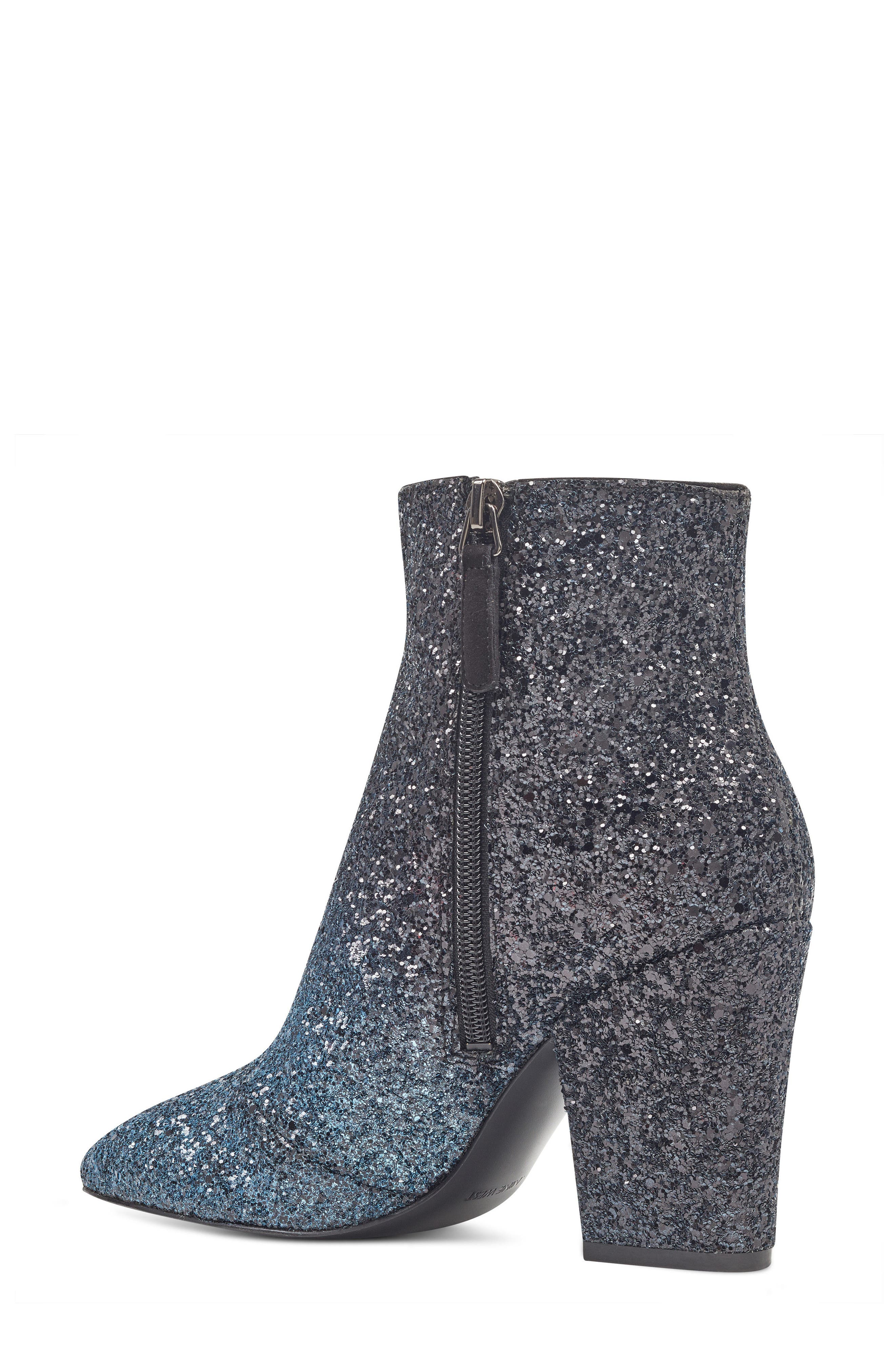 NINE WEST, Savitra Pointy Toe Bootie, Alternate thumbnail 2, color, 040