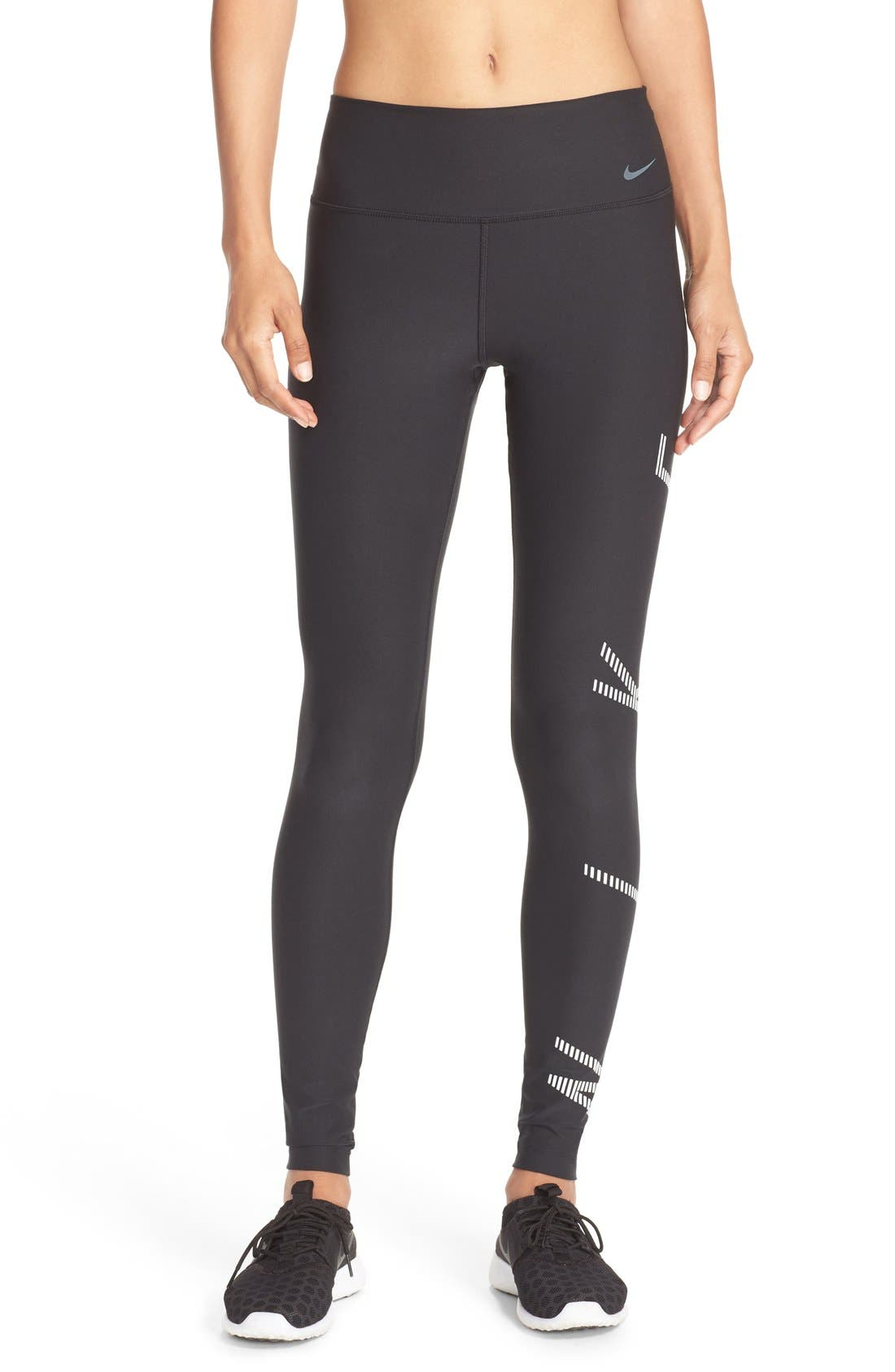 NIKE, Power Legendary Graphic Tights, Main thumbnail 1, color, 010