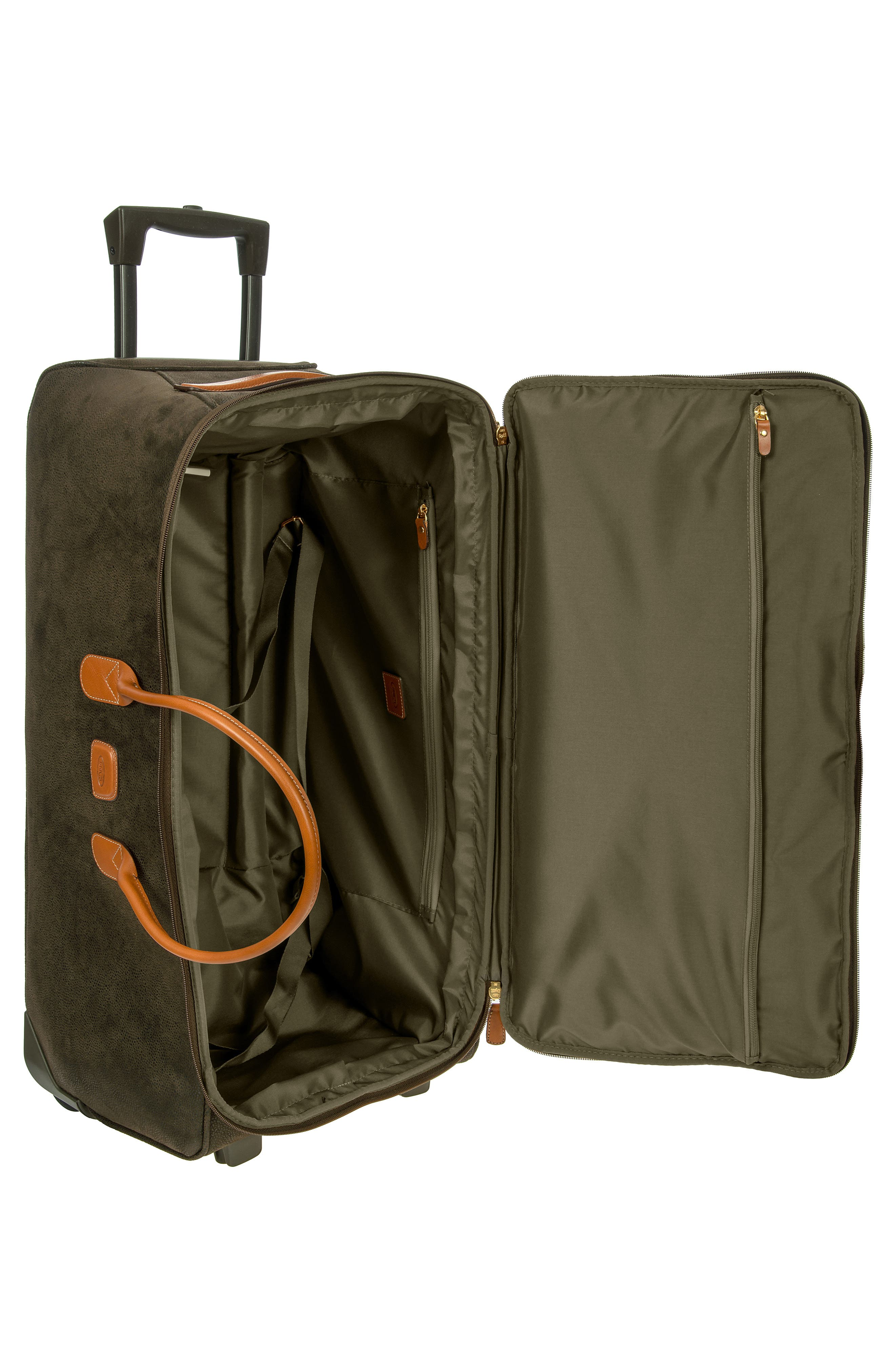 BRIC'S, Brics Life Collection 28-Inch Rolling Duffle Bag, Alternate thumbnail 3, color, OLIVE