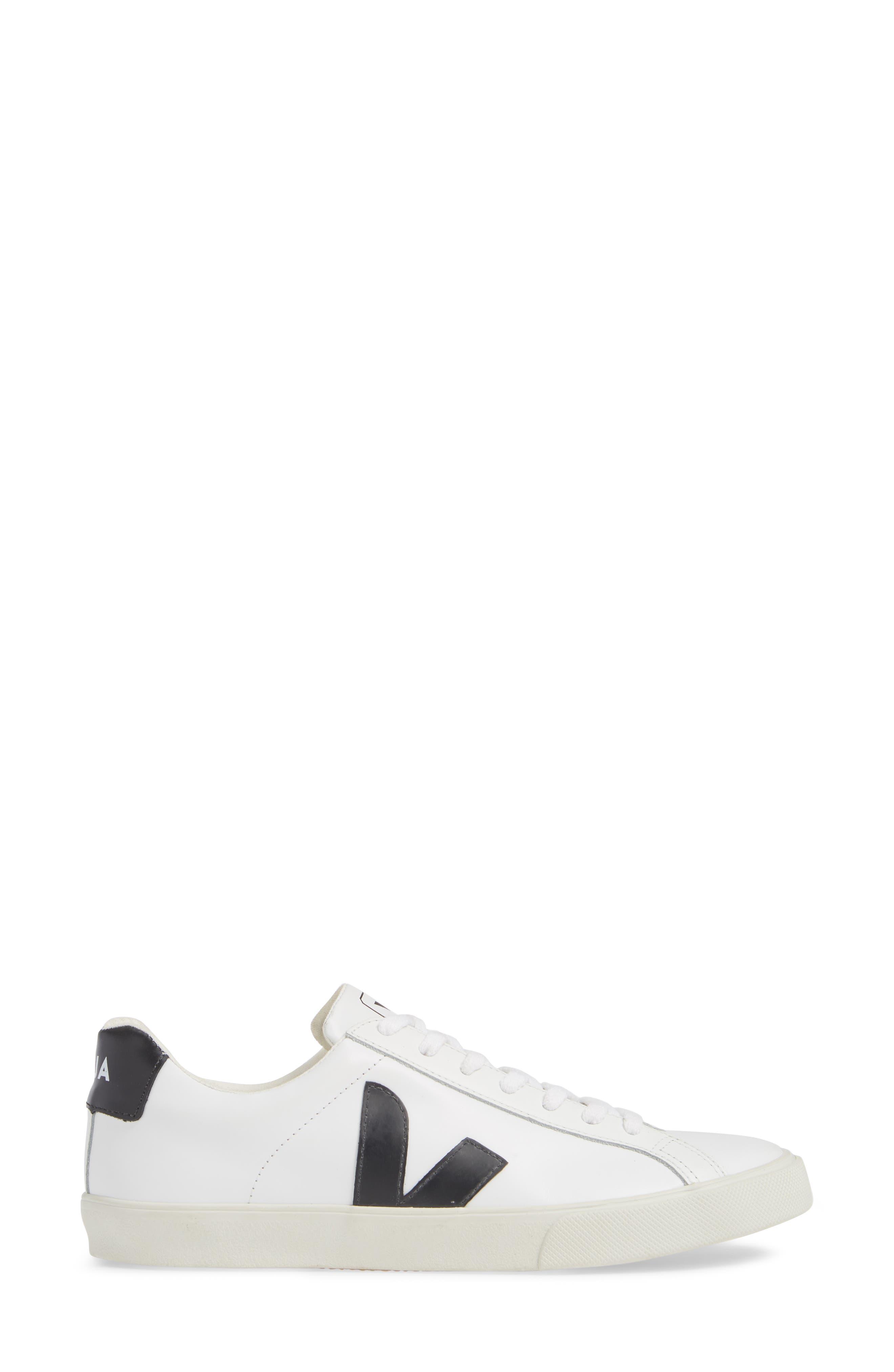VEJA, Esplar Sneaker, Alternate thumbnail 3, color, EXTRA WHITE BLACK