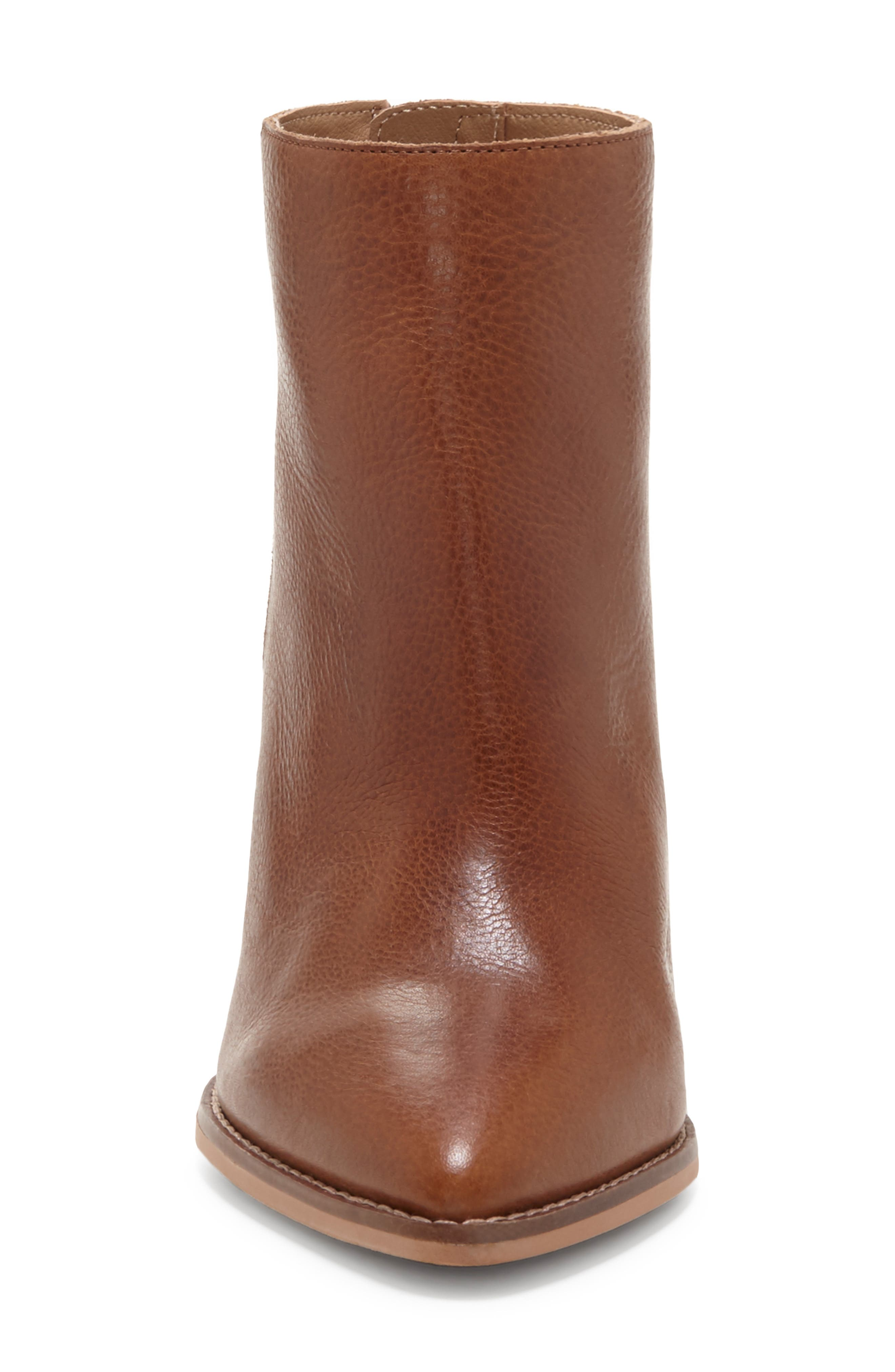 LUCKY BRAND, Adalan Bootie, Alternate thumbnail 4, color, MACAROON LEATHER