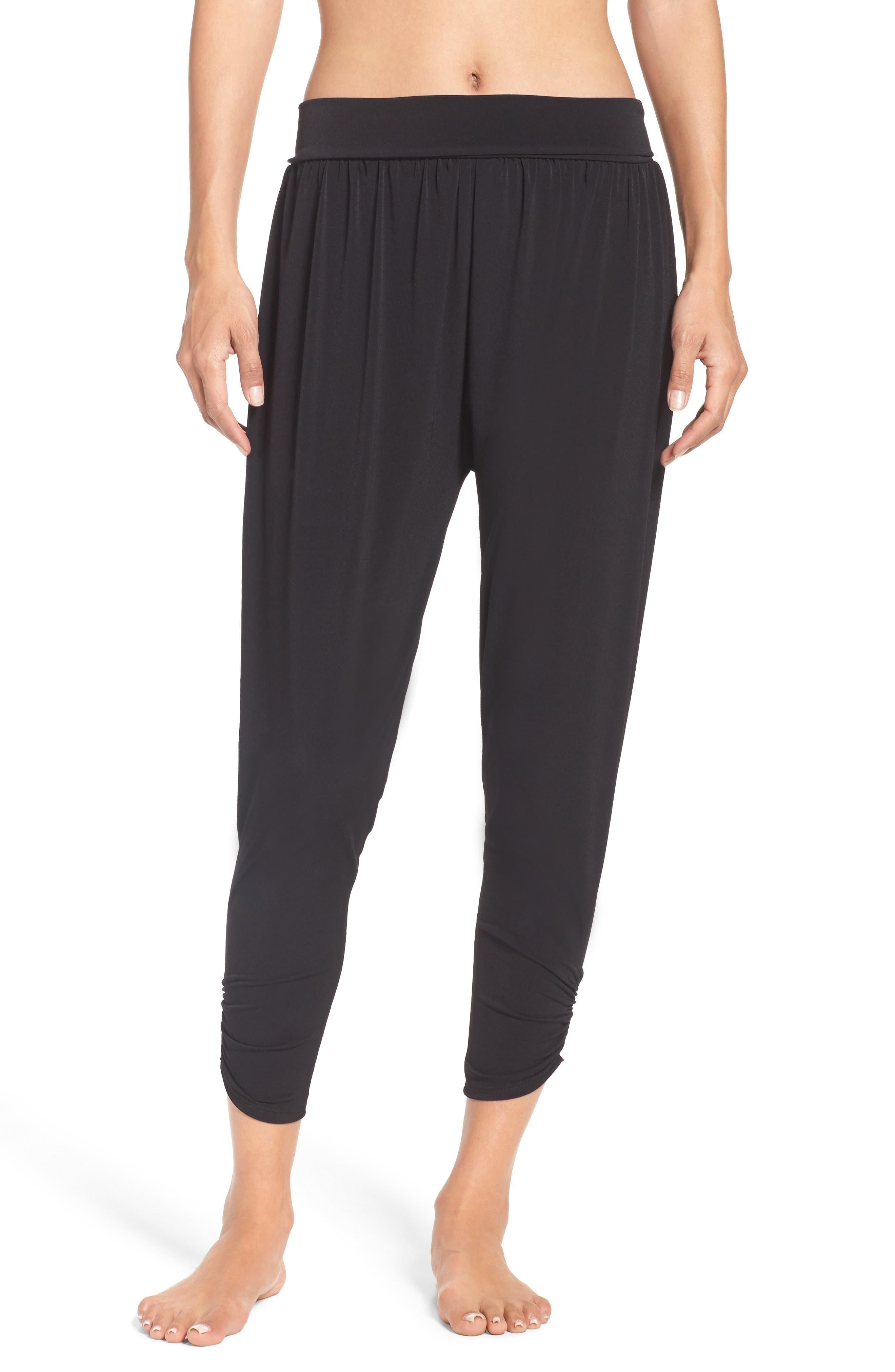 ONZIE Harem Pants, Main, color, BLACK