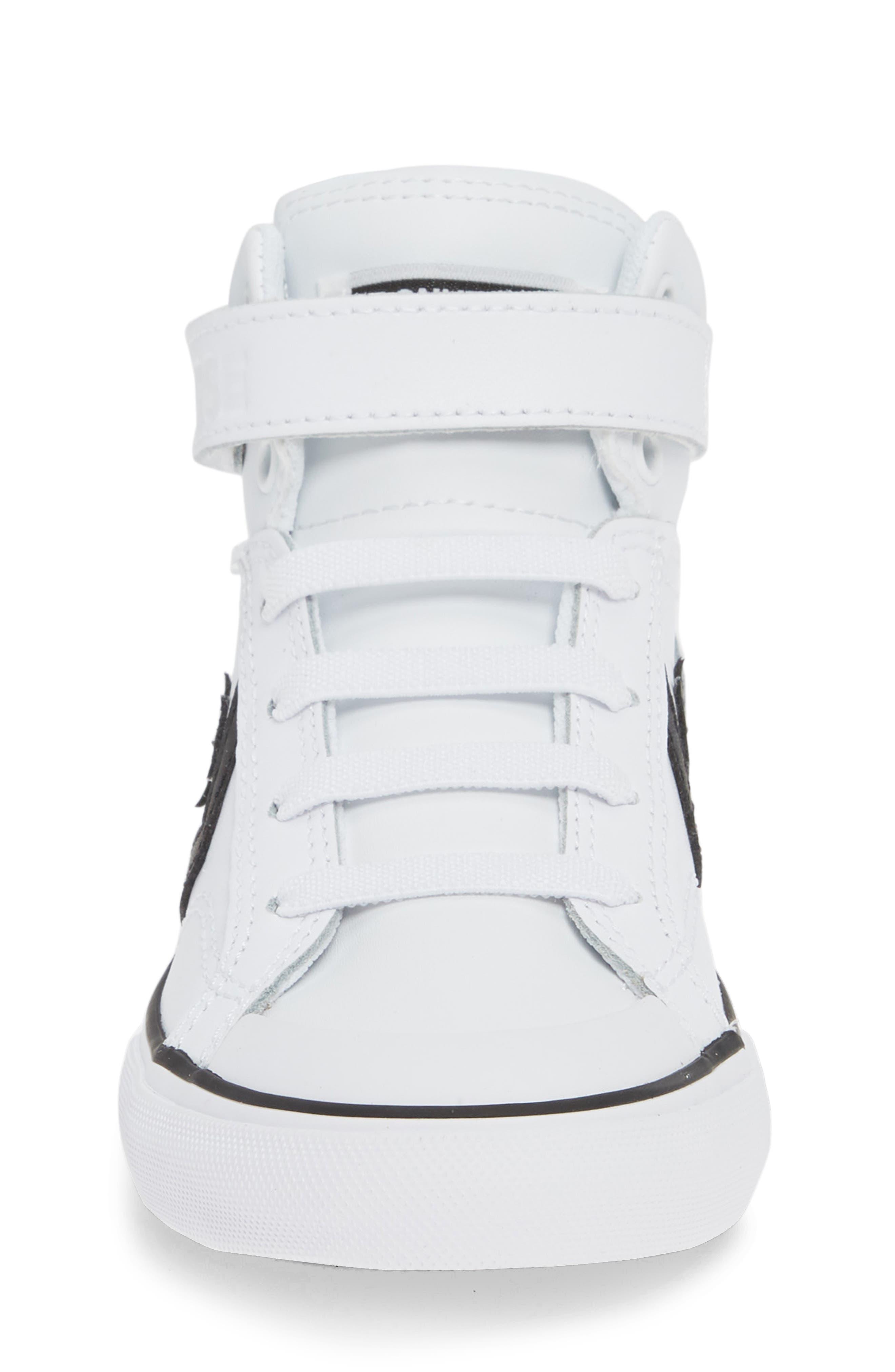 CONVERSE, Pro Blaze High Top Sneaker, Alternate thumbnail 4, color, WHITE/ BLACK/ WHITE