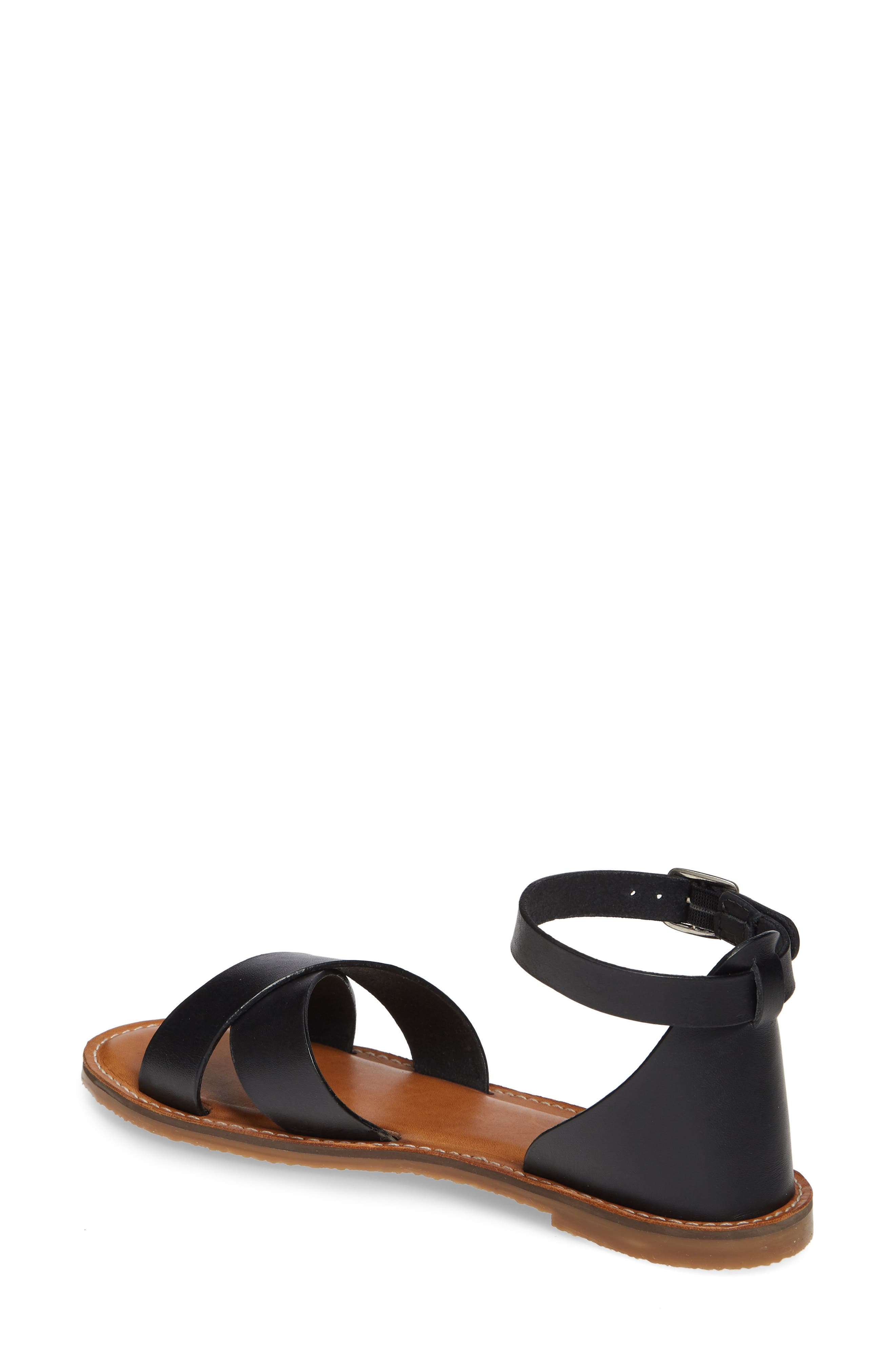 CASLON<SUP>®</SUP>, Oliver Sandal, Alternate thumbnail 2, color, BLACK LEATHER