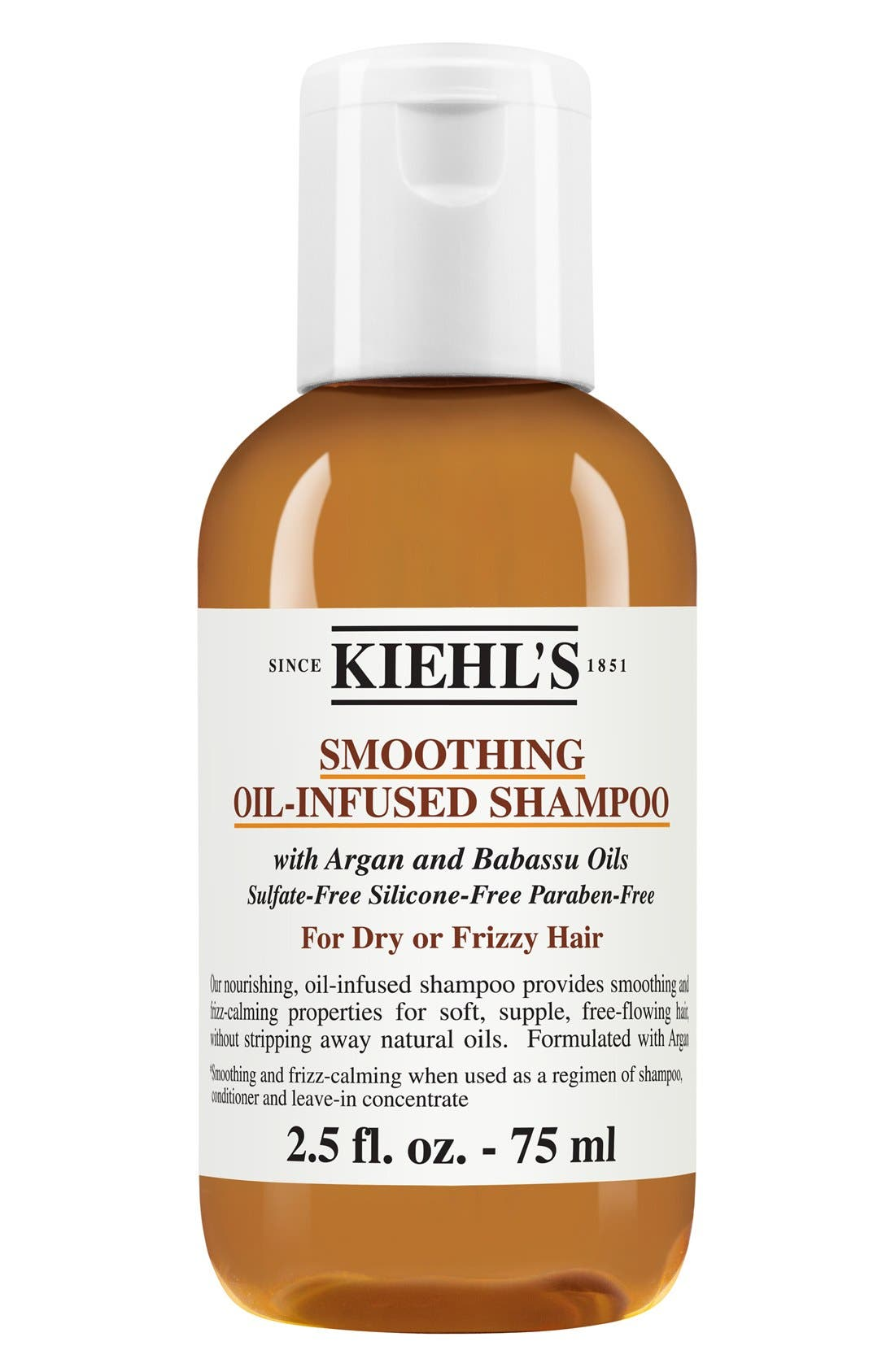 KIEHL'S SINCE 1851, Smoothing Oil-Infused Shampoo, Alternate thumbnail 3, color, NO COLOR