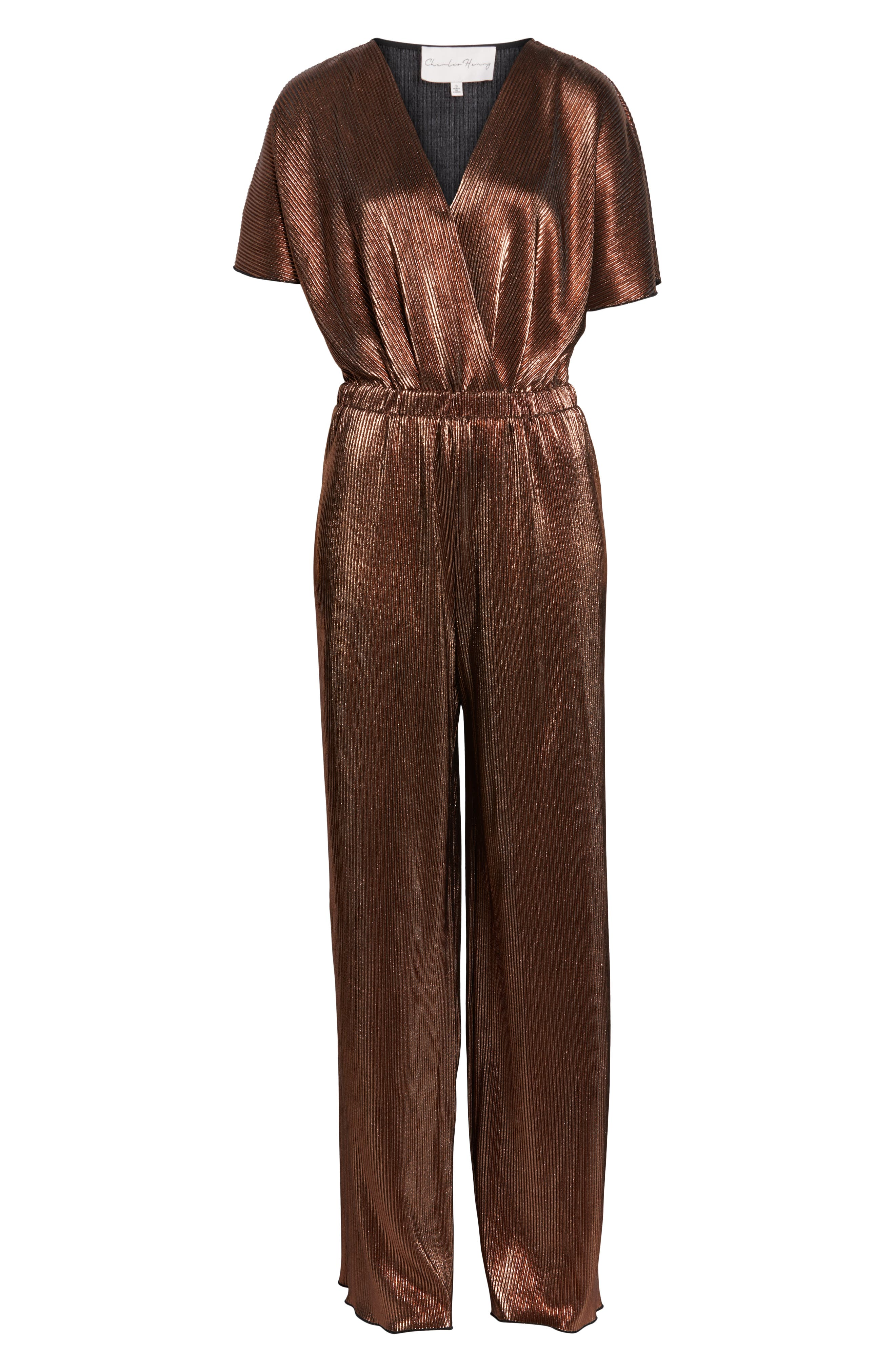 CHARLES HENRY, Crossover Jumpsuit, Alternate thumbnail 7, color, 220