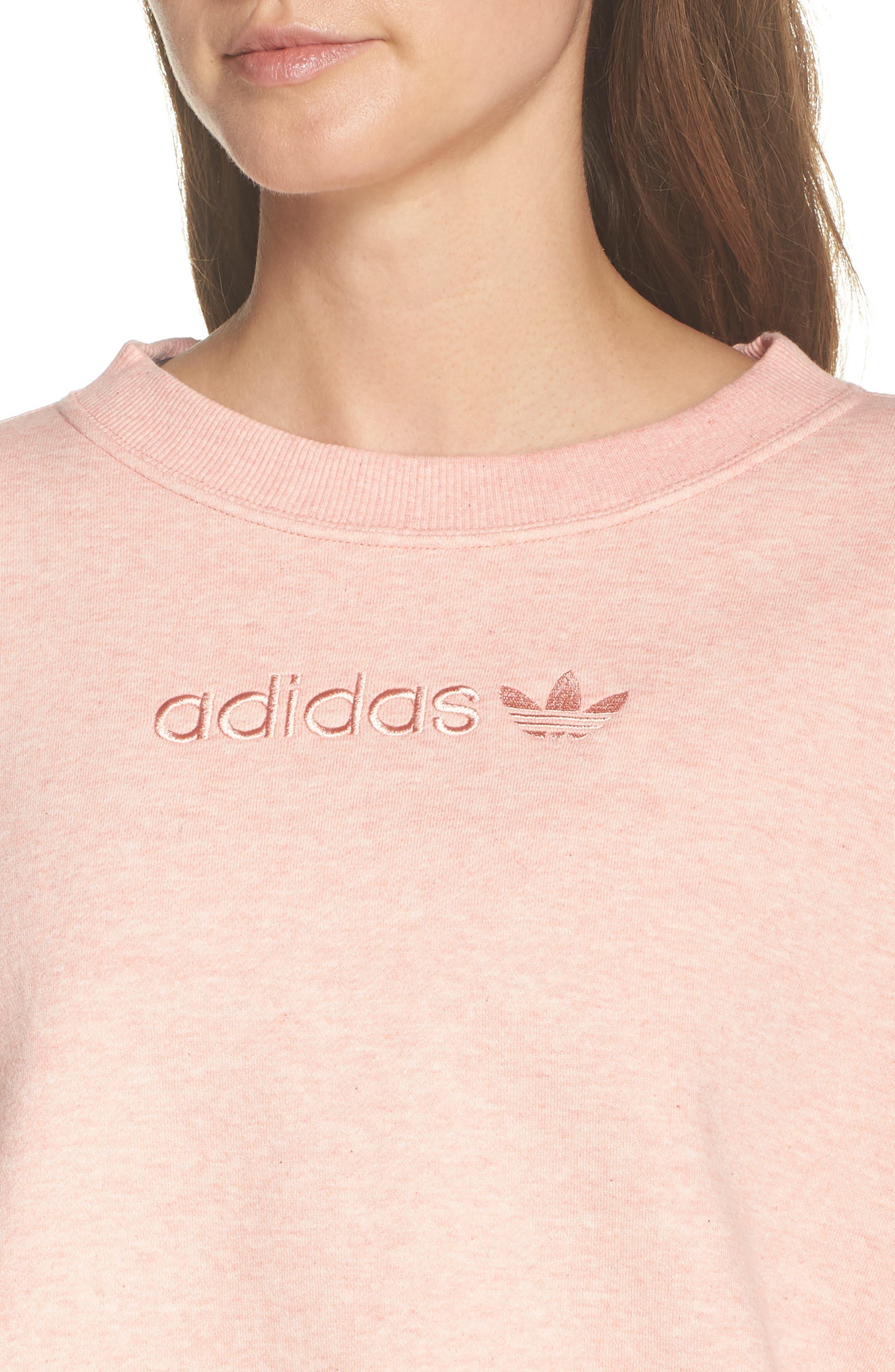 ADIDAS ORIGINALS, adidas Coeeze Crop Sweatshirt, Alternate thumbnail 5, color, 650