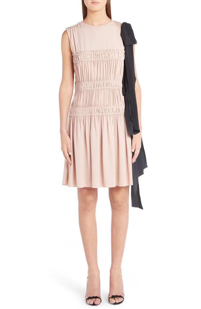 N°21 Dresses N DEGREE21 SMOCKED BOW DETAIL DRESS