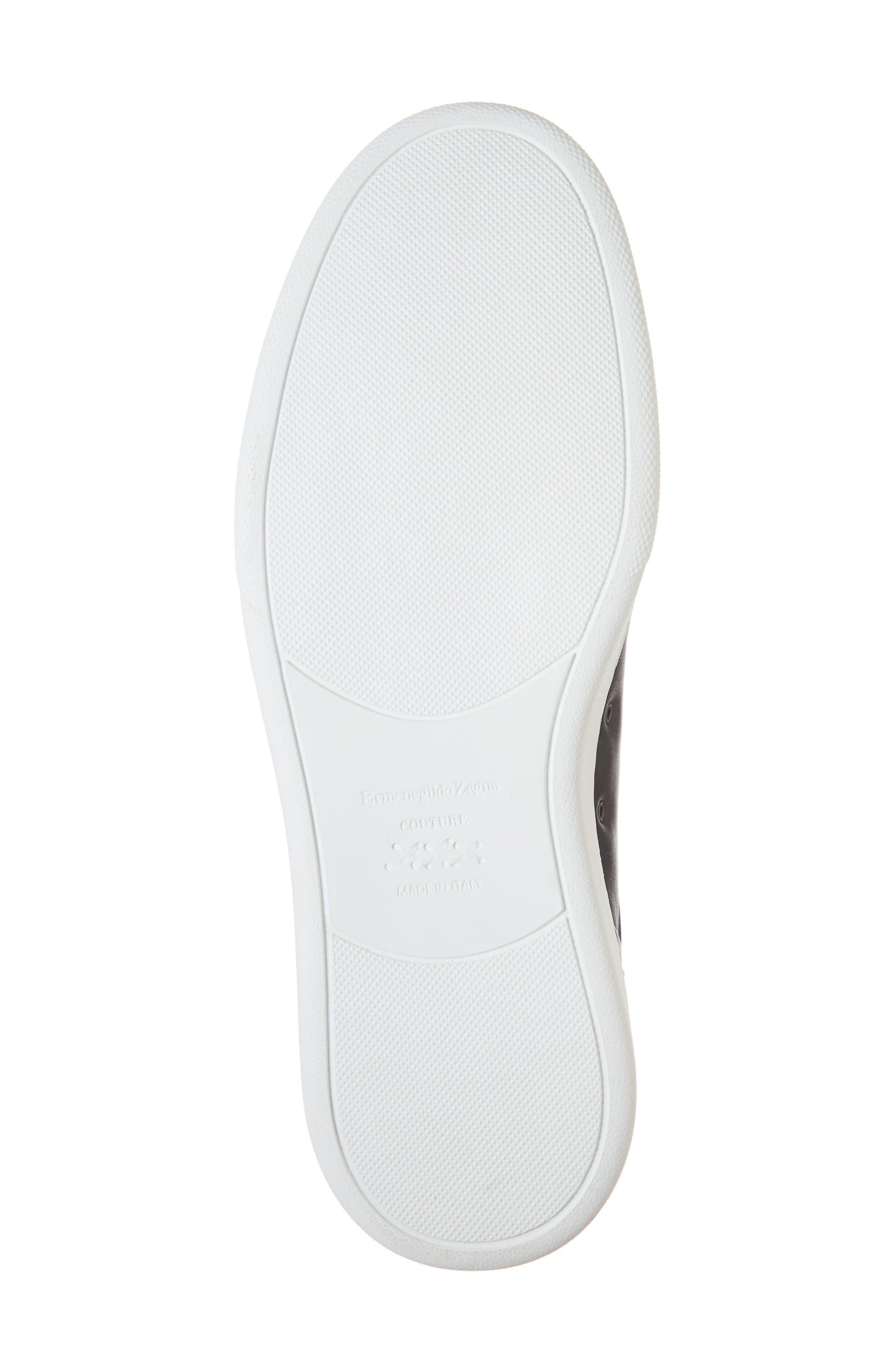 ERMENEGILDO ZEGNA, Slip-On Sneaker, Alternate thumbnail 6, color, BLACK