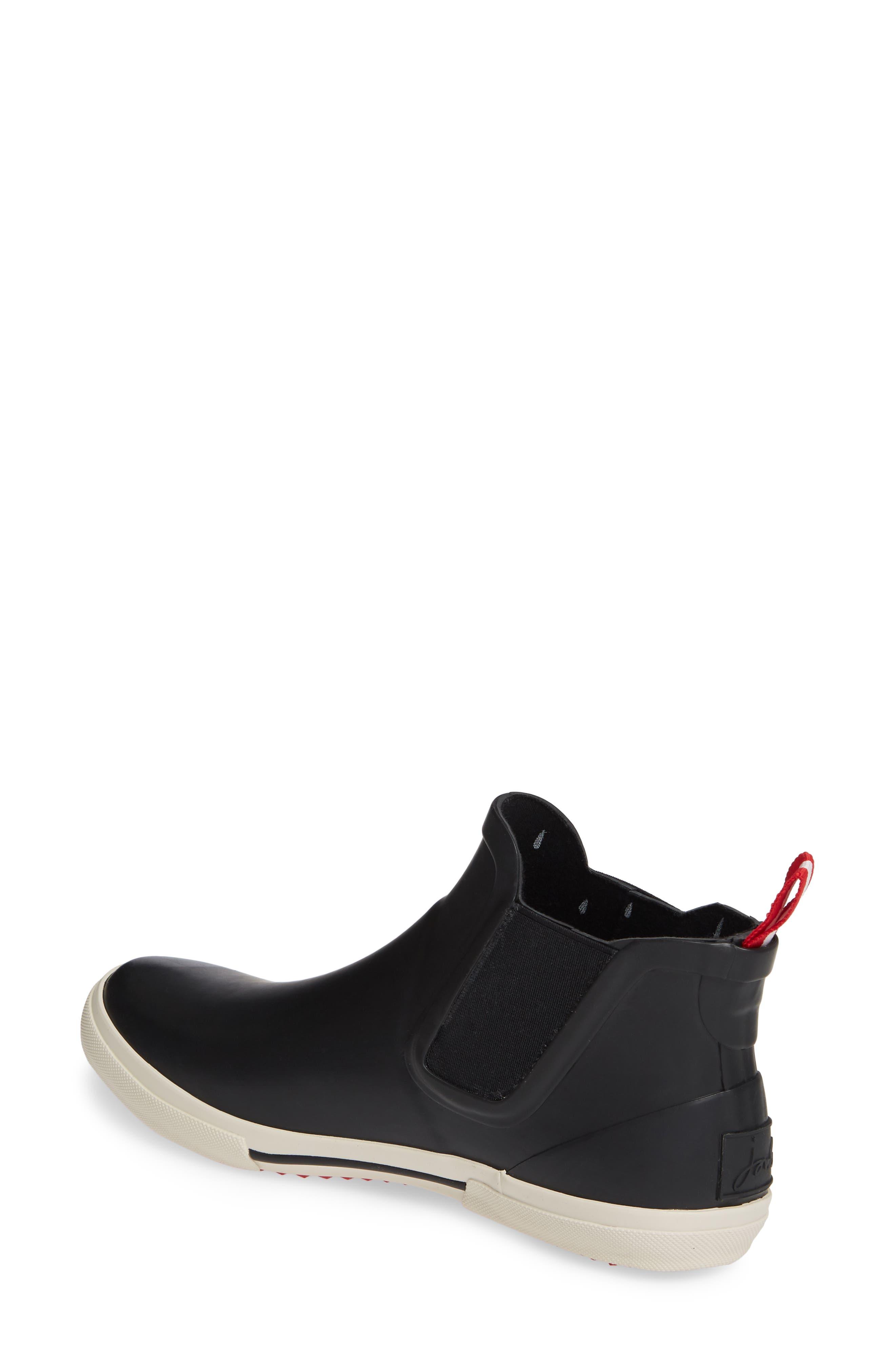 JOULES, Rainwell Waterproof Chelsea Rain Boot, Alternate thumbnail 2, color, BLACK