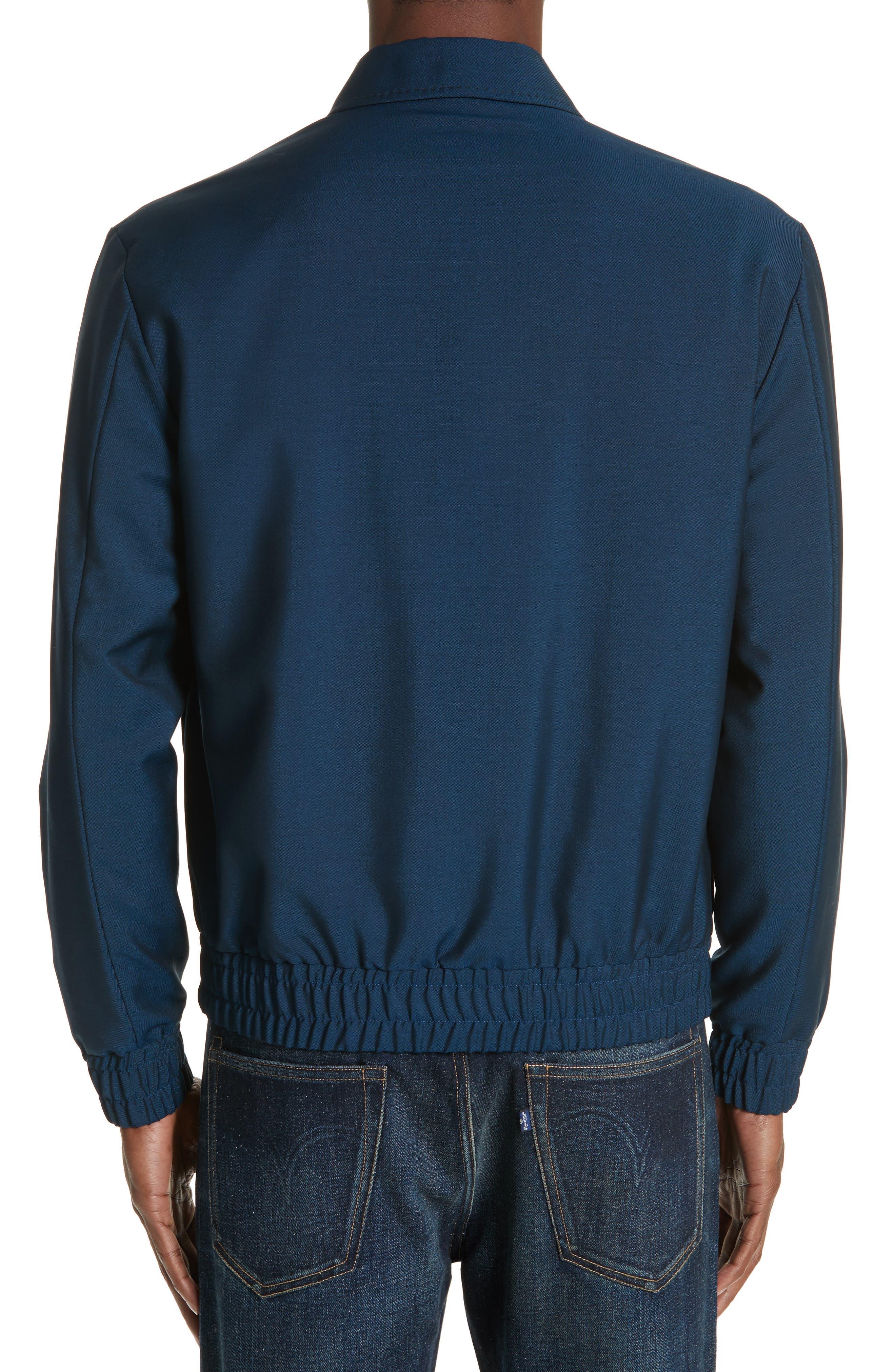 KENZO, Zip Jacket, Alternate thumbnail 2, color, DUCK BLUE