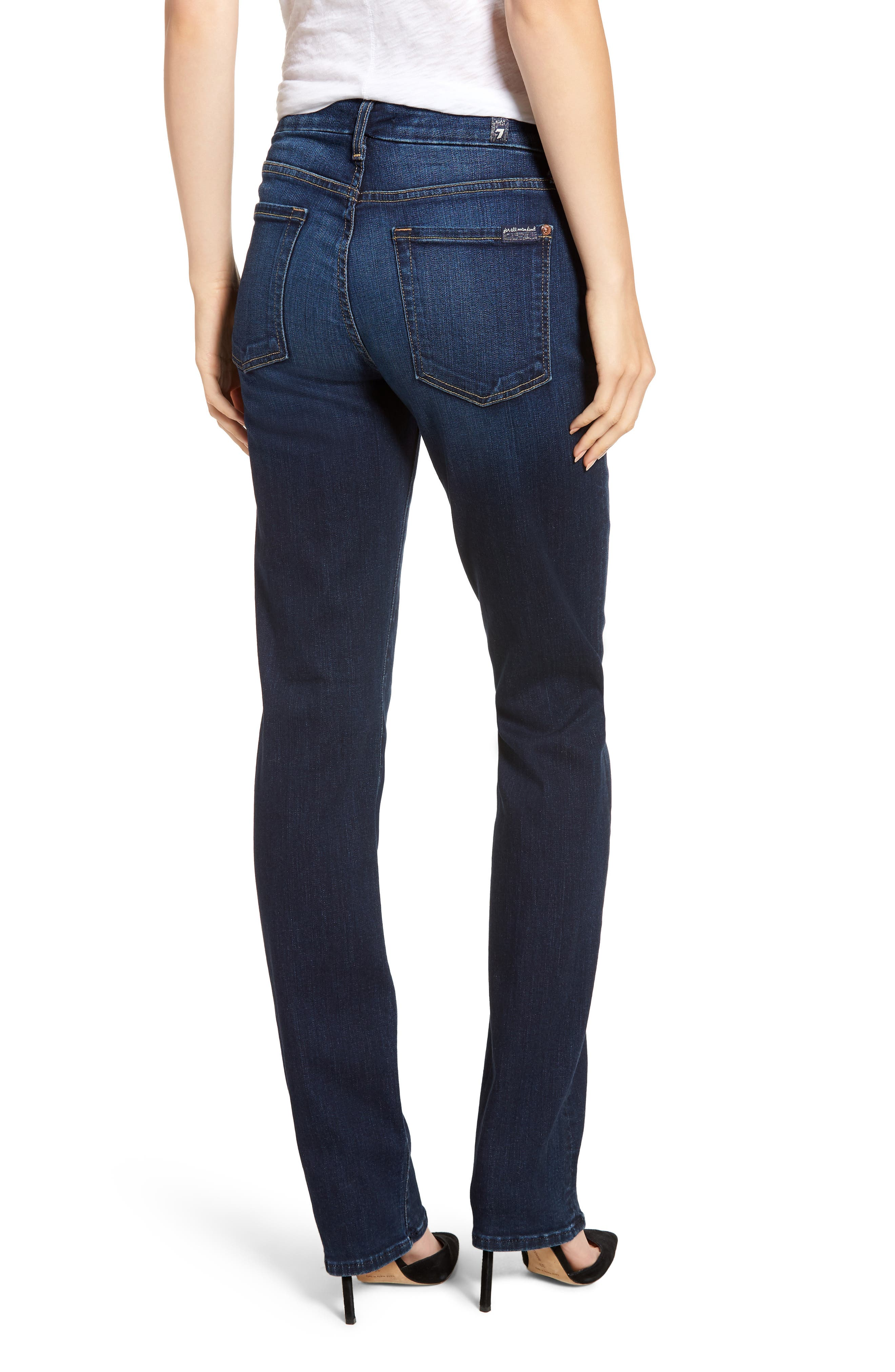 7 FOR ALL MANKIND<SUP>®</SUP>, b(air) Kimmie Straight Leg Jeans, Alternate thumbnail 2, color, AUTHENTIC FATE