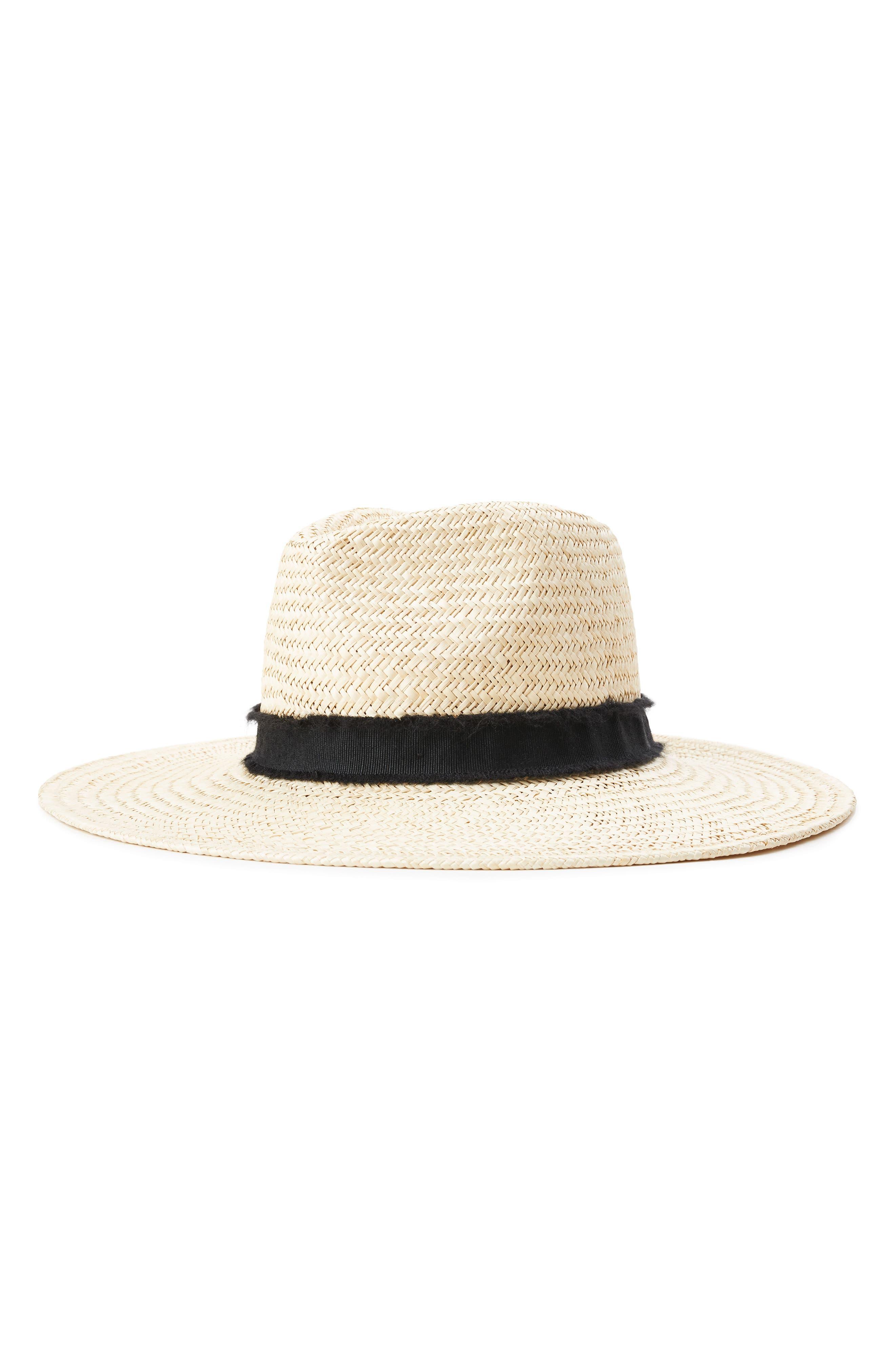 BRIXTON Joanna II Straw Hat, Main, color, TAN/ BLACK