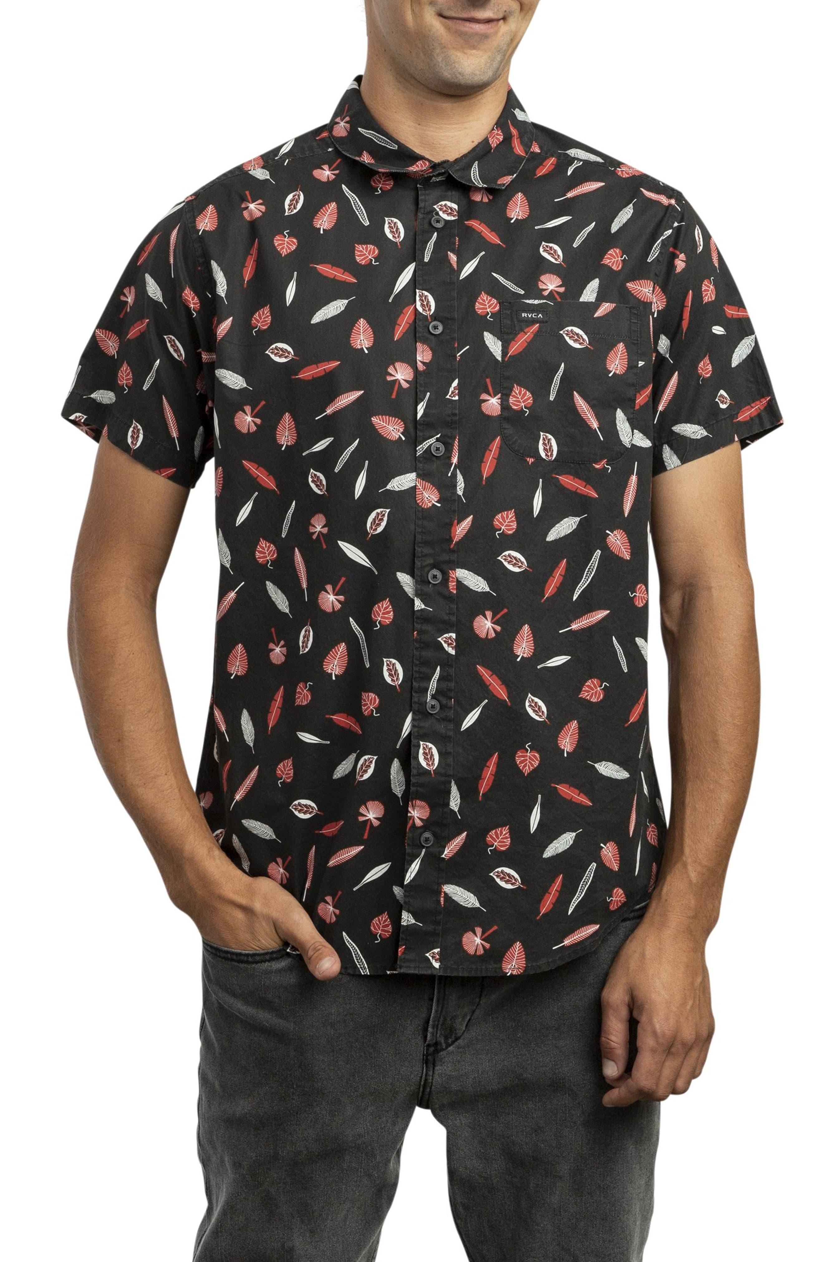 RVCA, Gerrard Woven Shirt, Main thumbnail 1, color, 001