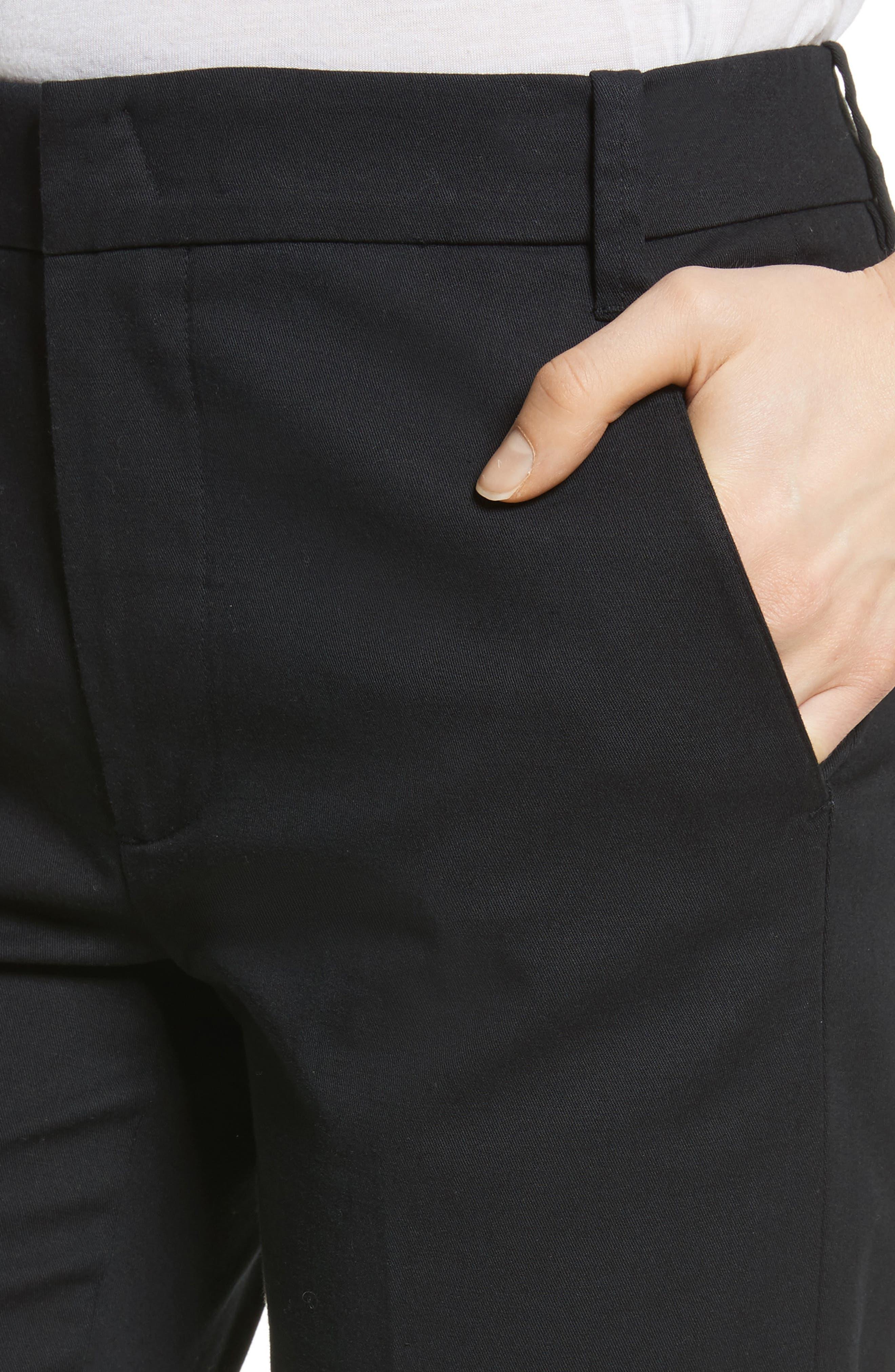 VINCE, Coin Pocket Chino Pants, Alternate thumbnail 5, color, BLACK