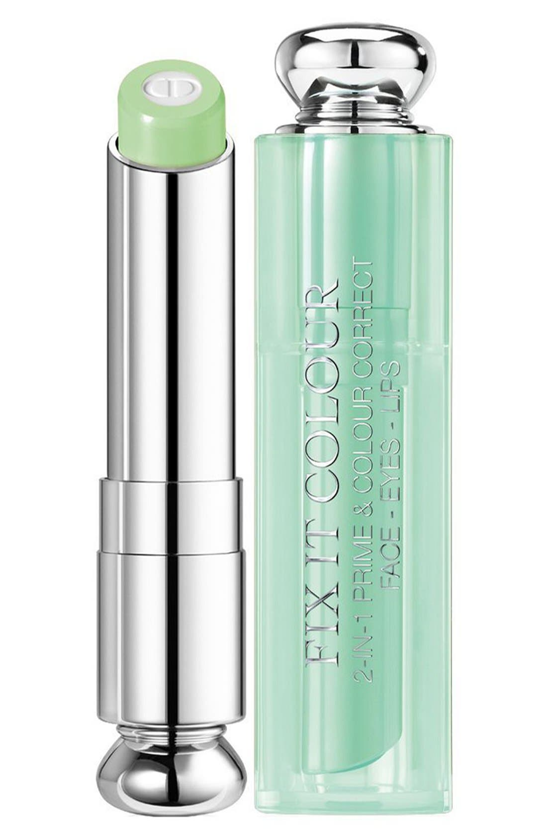 DIOR, Fix It 2-in-1 Prime & Color Correct, Main thumbnail 1, color, 400 GREEN