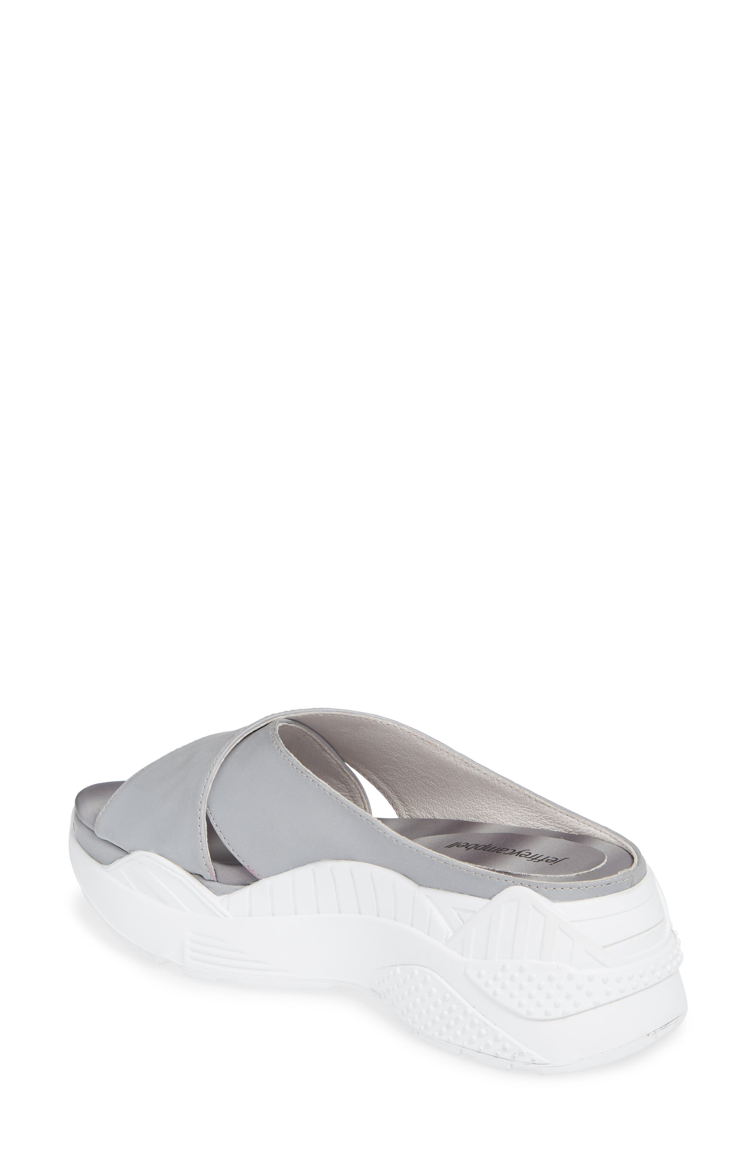 JEFFREY CAMPBELL, Sector Sport Slide Sandal, Alternate thumbnail 2, color, REFLECTIVE