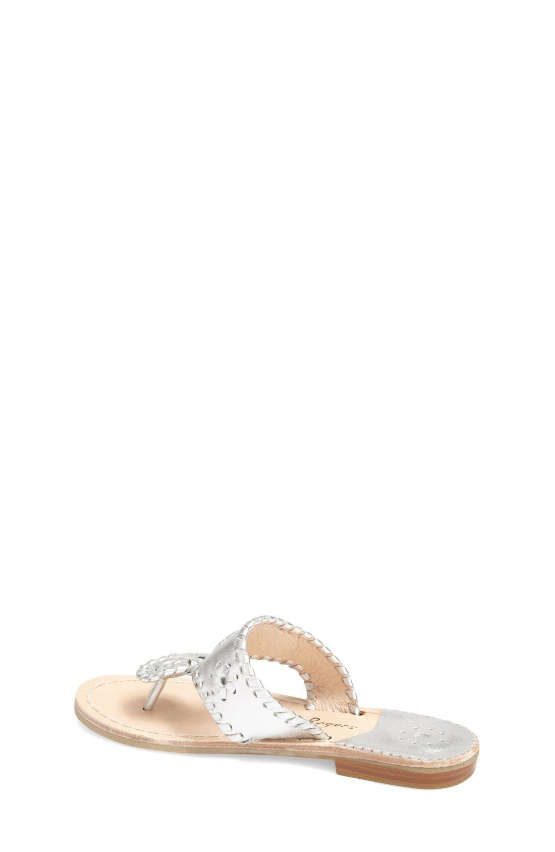 JACK ROGERS, 'Miss Hamptons' Sandal, Alternate thumbnail 2, color, SILVER