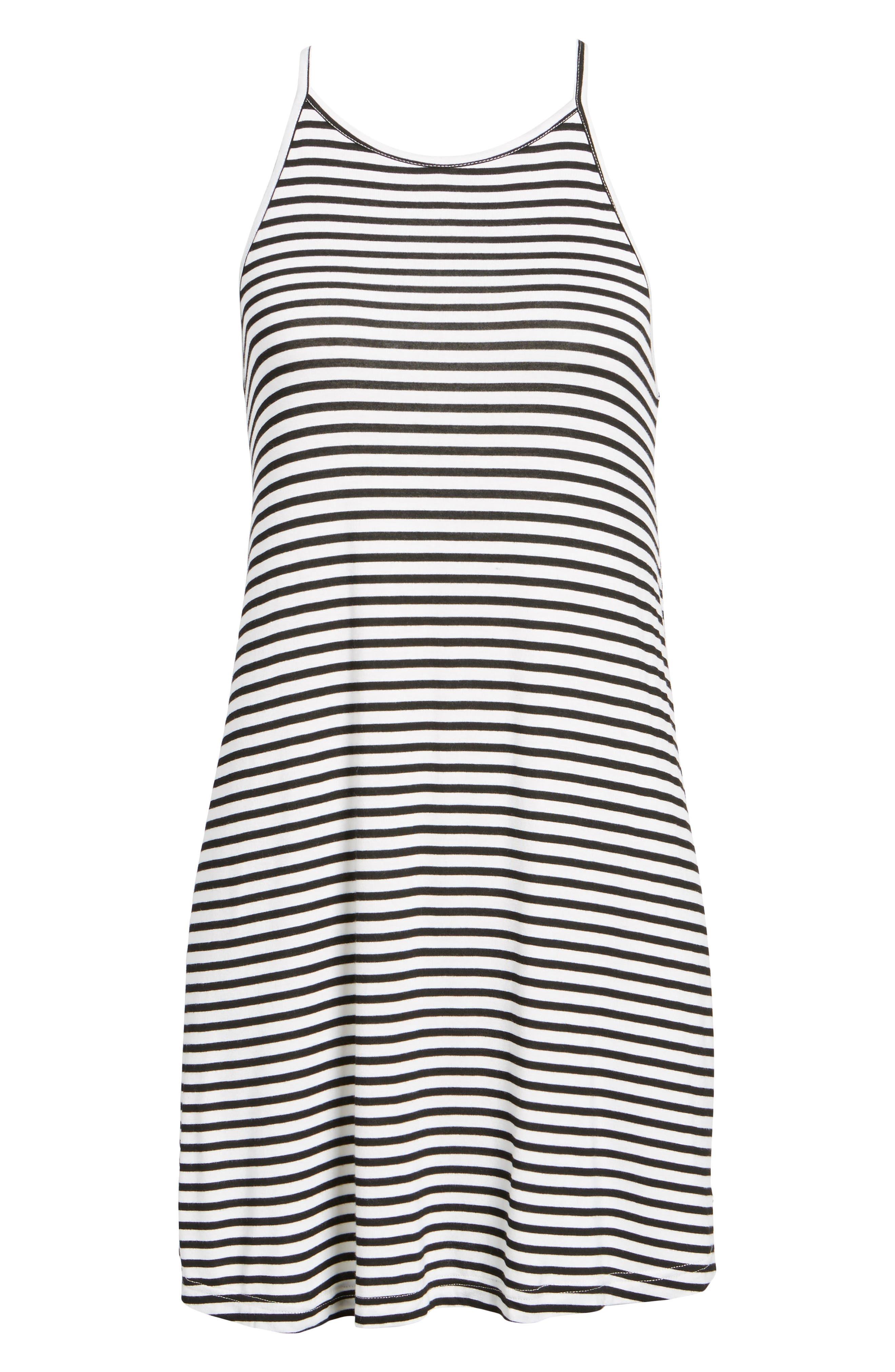 ROXY, I Did Didn't Stripe Dress, Alternate thumbnail 6, color, 101