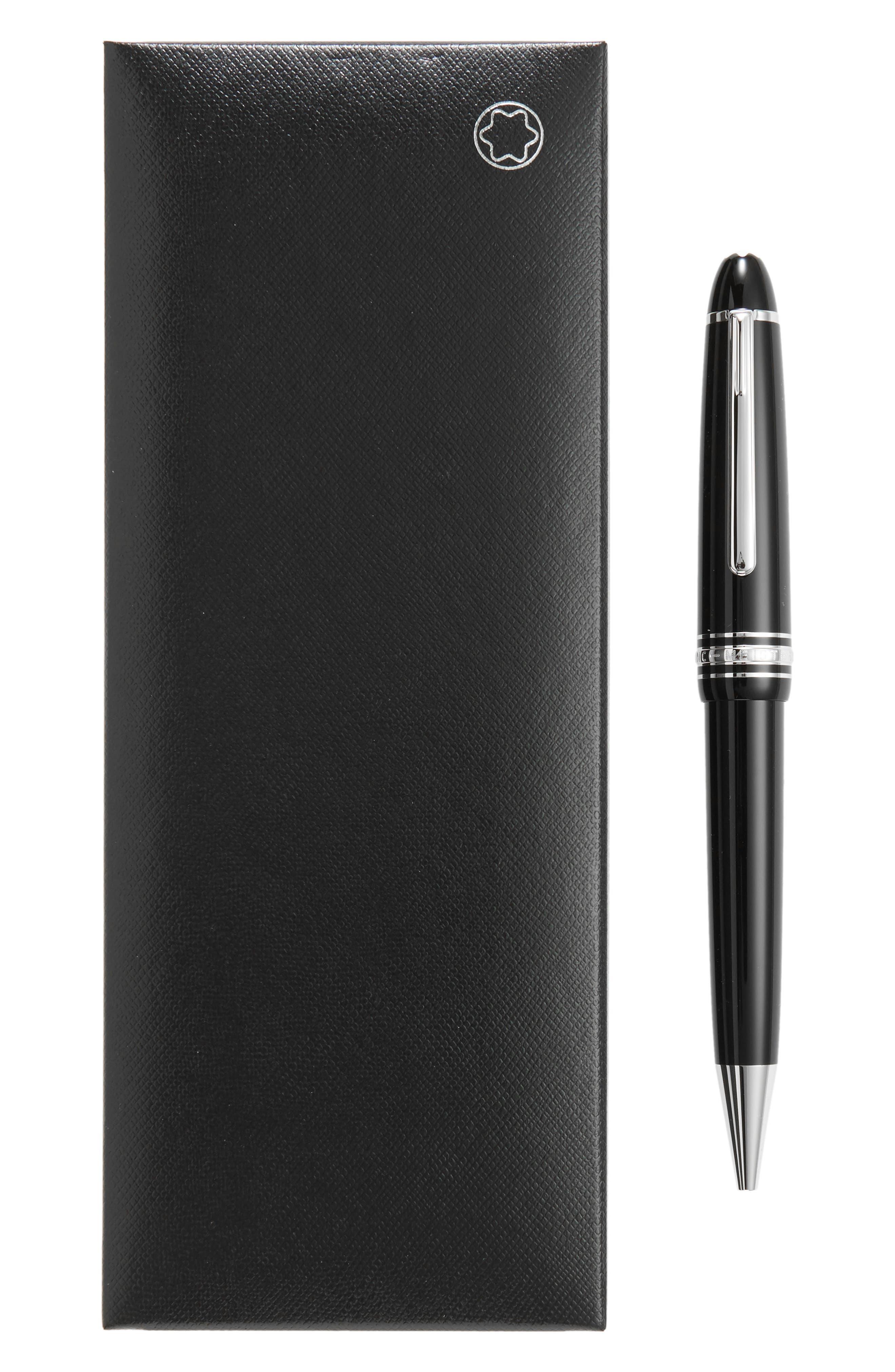 MONTBLANC, Meisterstück Platinum Coated LeGrand Ballpoint Pen, Alternate thumbnail 2, color, 001