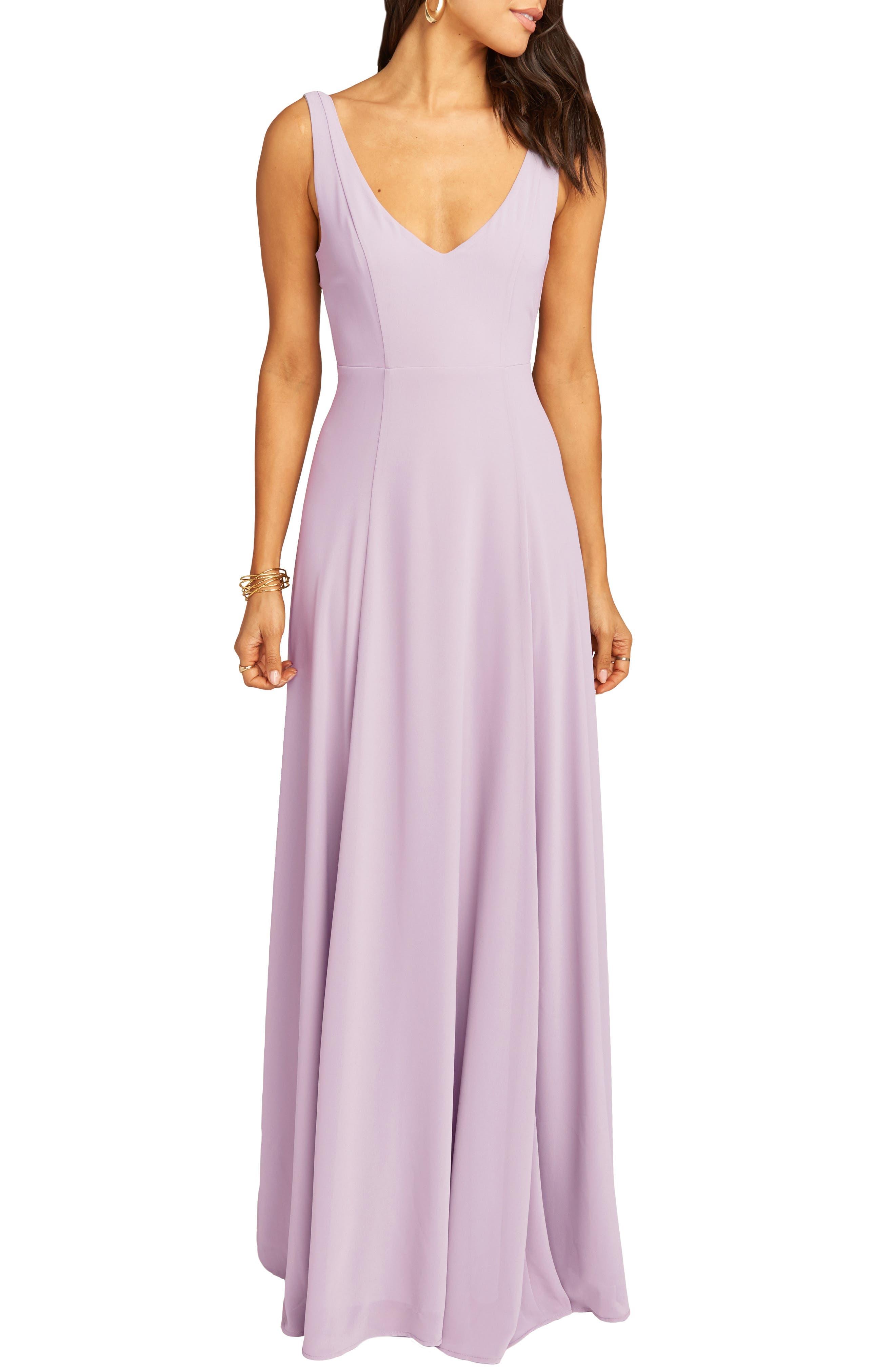 SHOW ME YOUR MUMU Jen Maxi Gown, Main, color, VIOLET CHIFFON