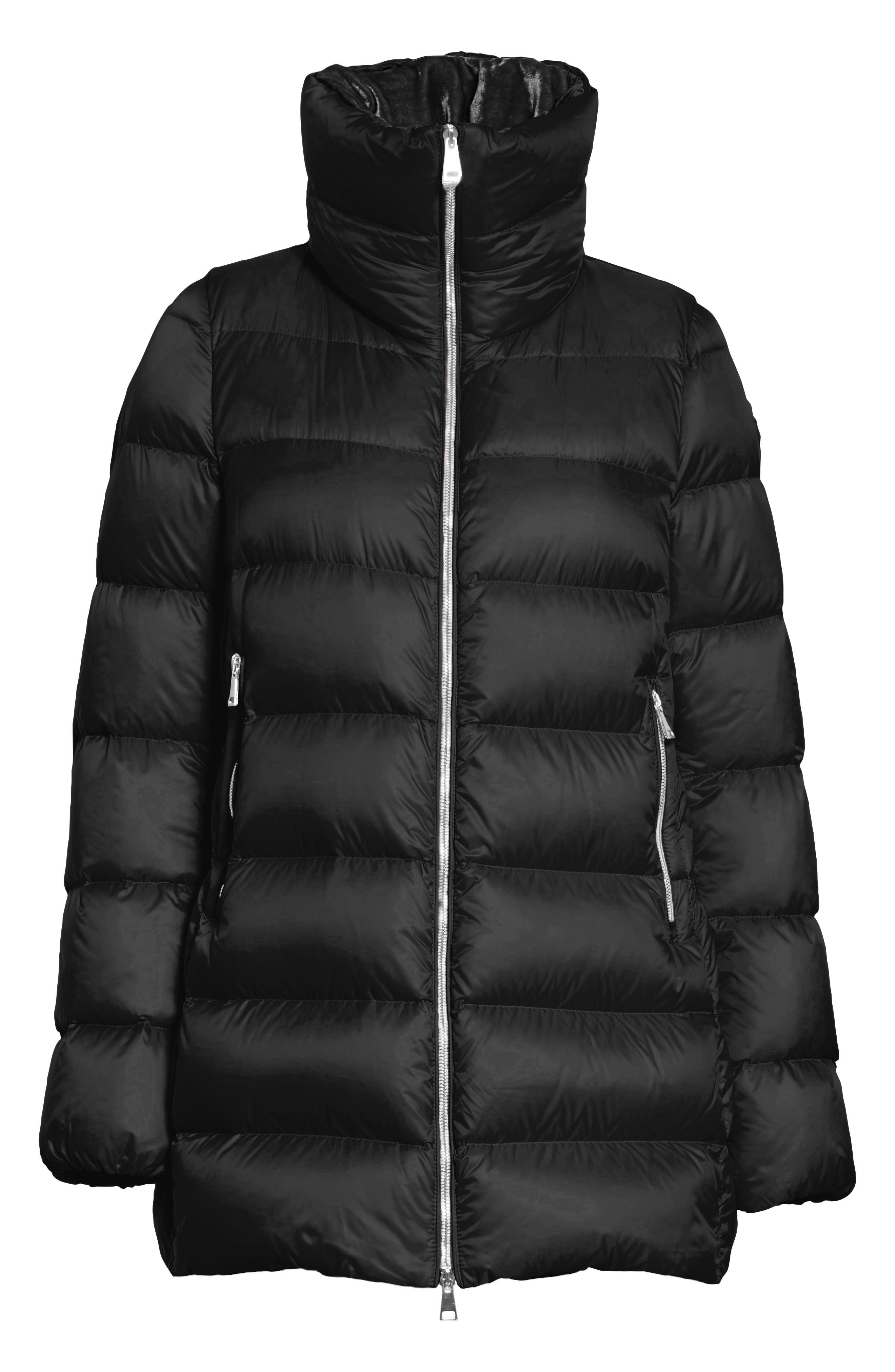 MONCLER, Torcol Quilted Down Jacket, Alternate thumbnail 5, color, BLACK
