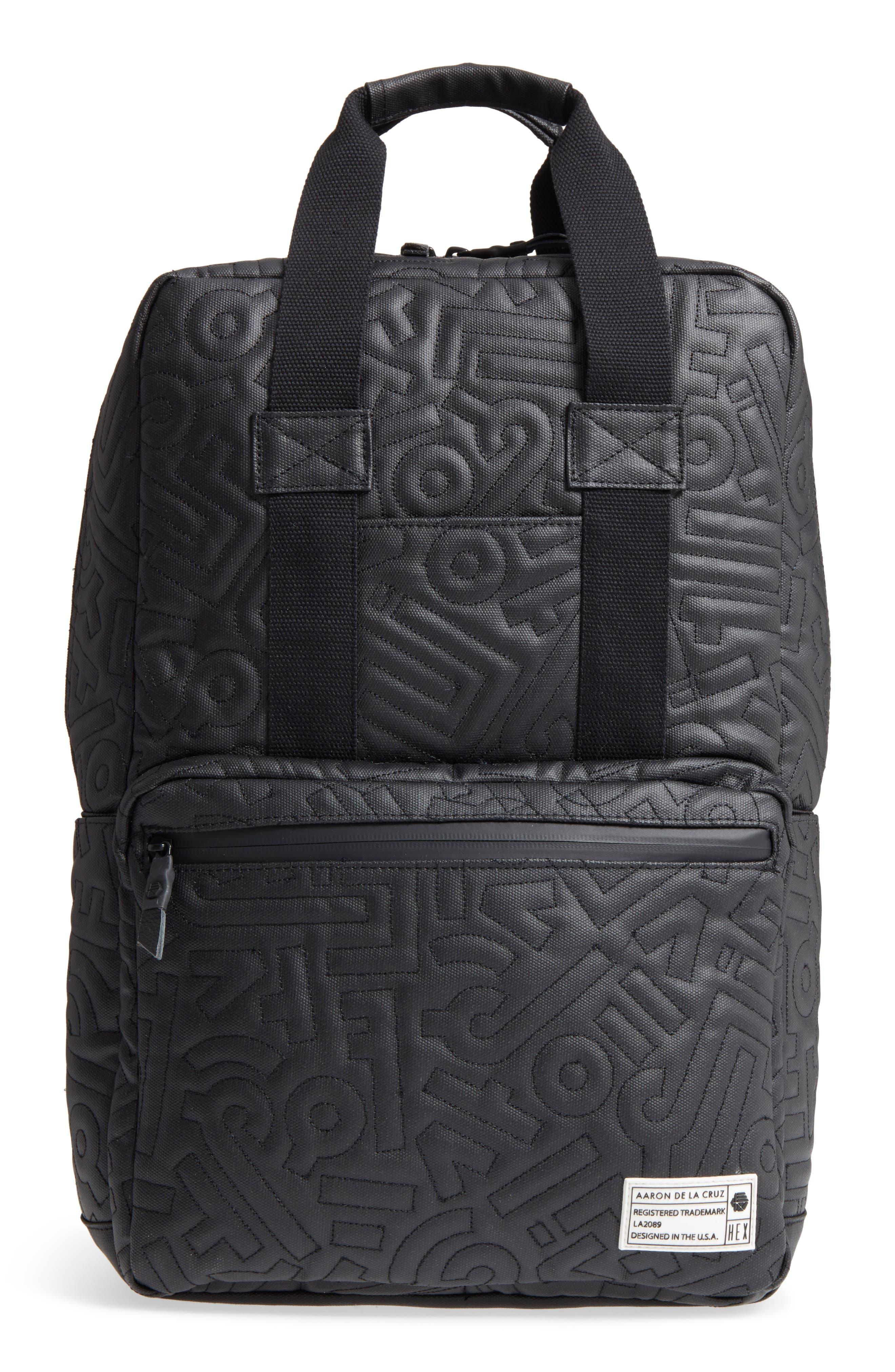 HEX, x Aaron De La Cruz Convertible Backpack, Main thumbnail 1, color, 003