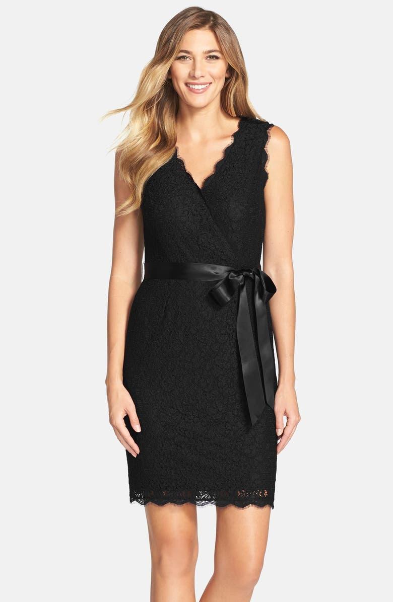 a2240194048af Lace Faux Wrap Dress