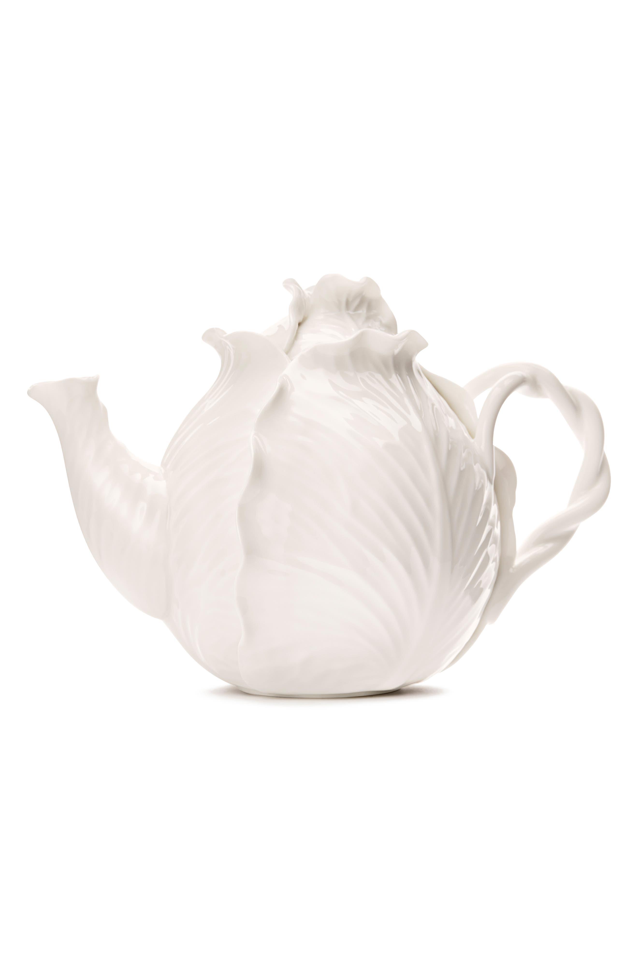 TORY BURCH Lettuce Ware Teapot, Main, color, 100