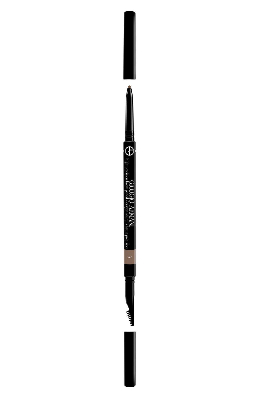 GIORGIO ARMANI, High-Precision Brow Pencil, Main thumbnail 1, color, 3