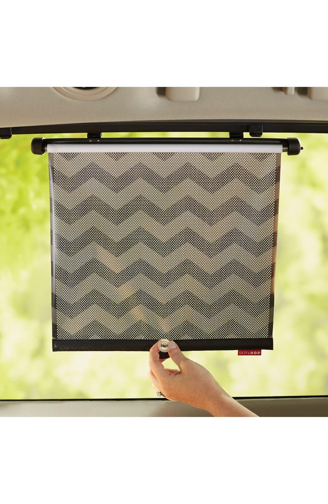 SKIP HOP Car Window Shades, Main, color, DARK CHEVRON