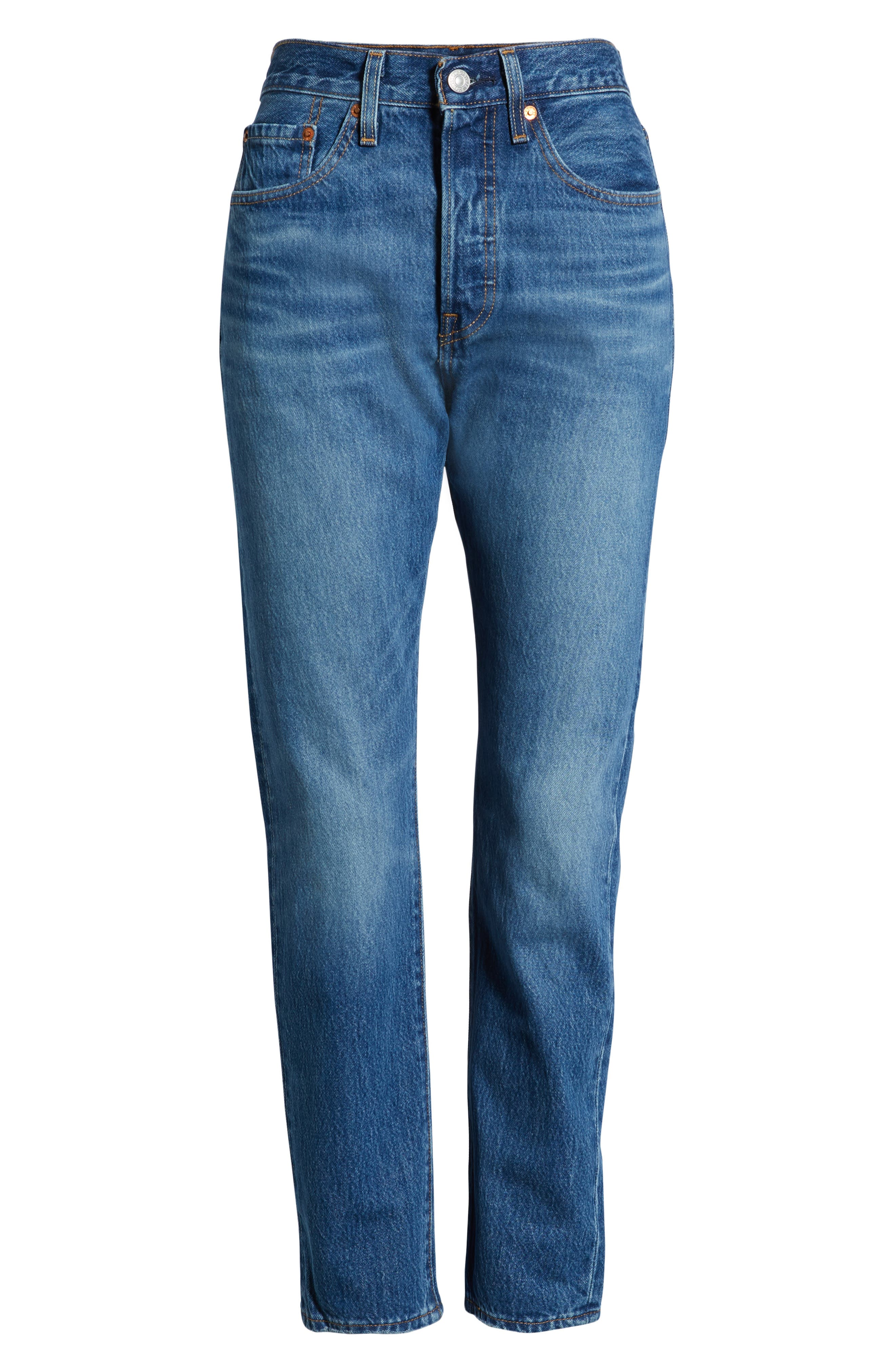 LEVI'S<SUP>®</SUP>, 501<sup>®</sup> High Waist Ankle Skinny Jeans, Alternate thumbnail 7, color, CHILL PILL