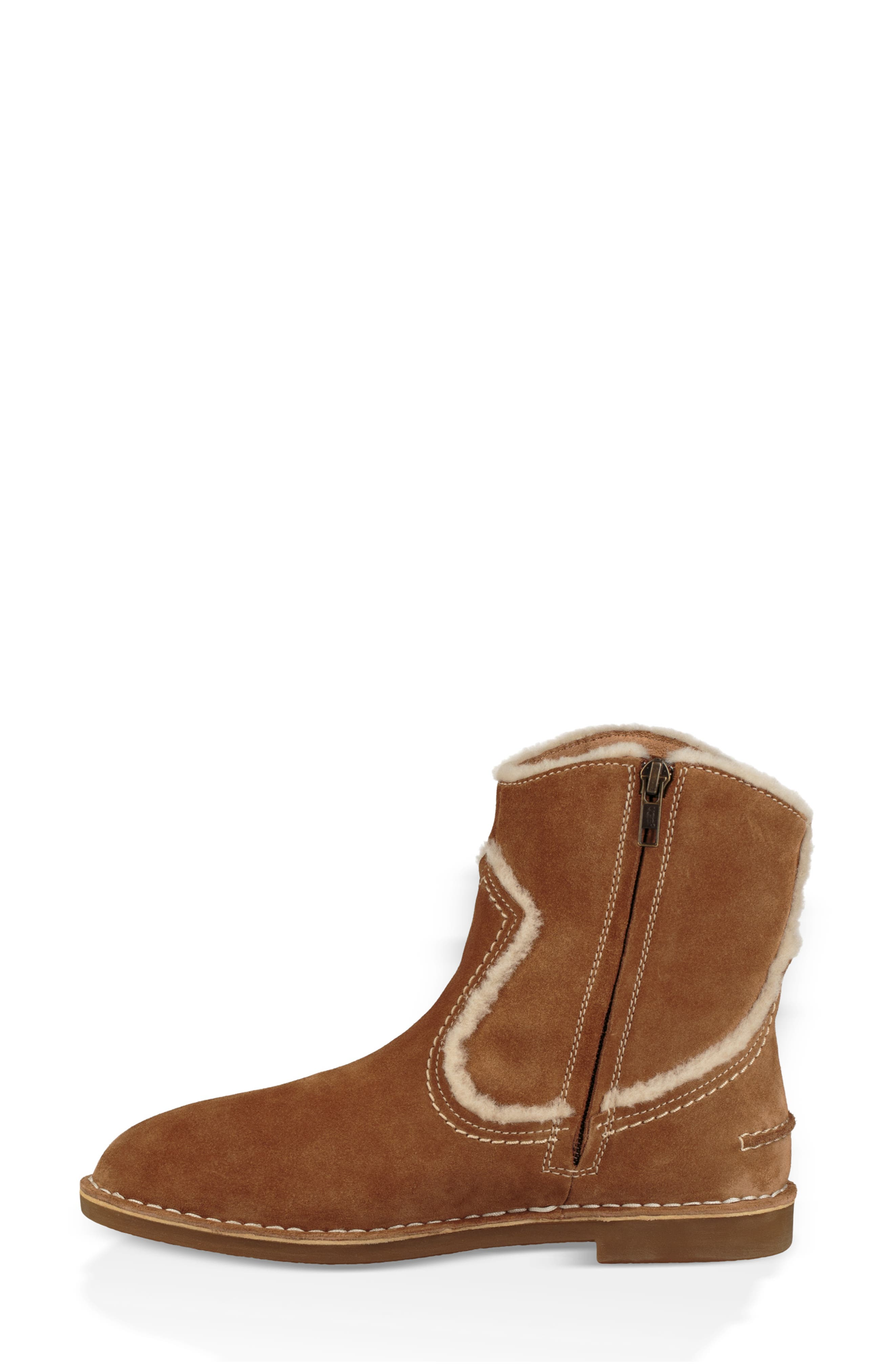 UGG<SUP>®</SUP>, Catica Boot, Alternate thumbnail 6, color, CHESTNUT SUEDE