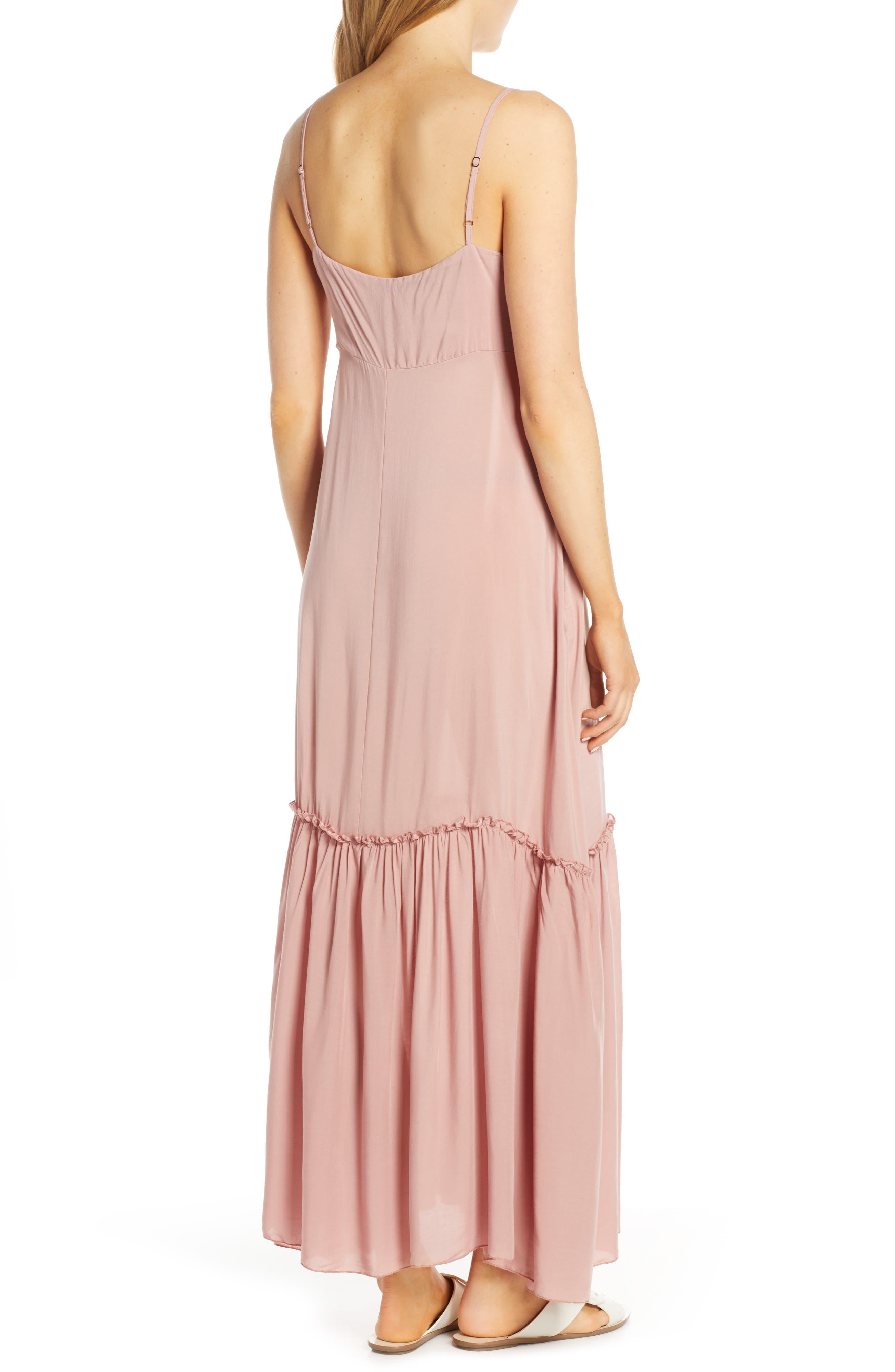 ELAN, Maxi Cover-Up Dress, Alternate thumbnail 2, color, ROSE