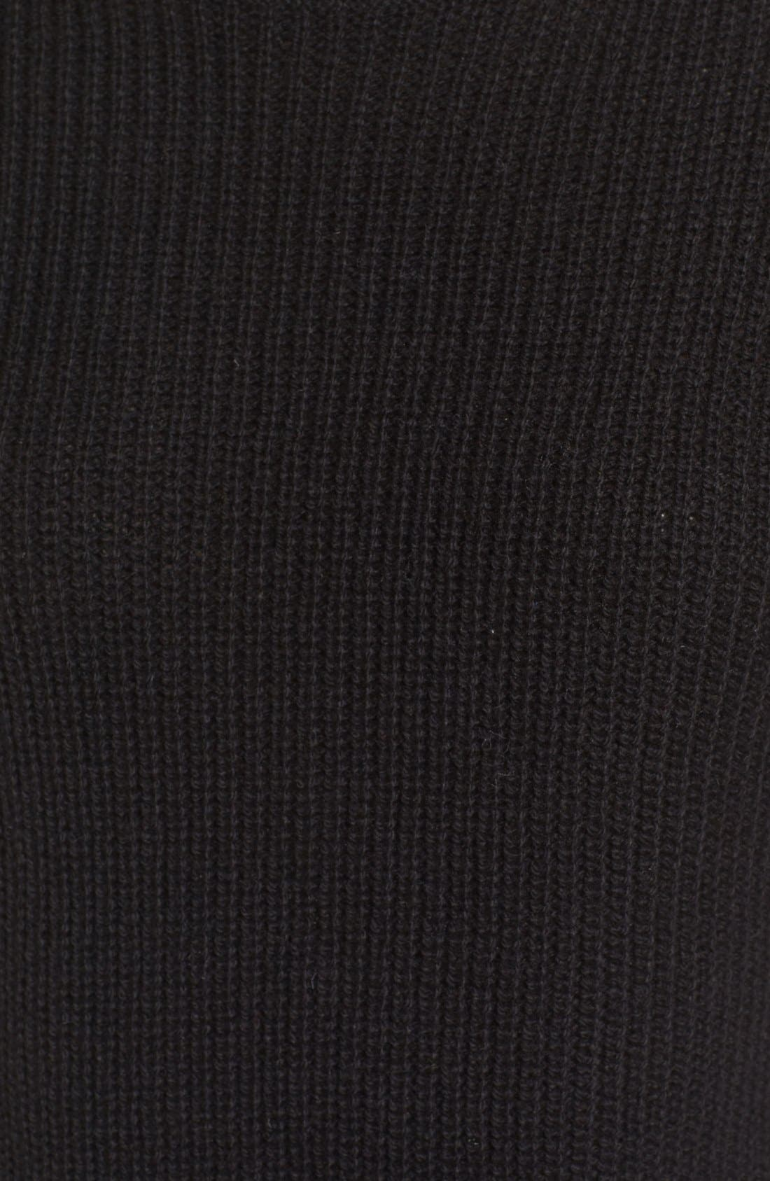 BP., Ribbed Mock Neck Pullover, Alternate thumbnail 4, color, 001