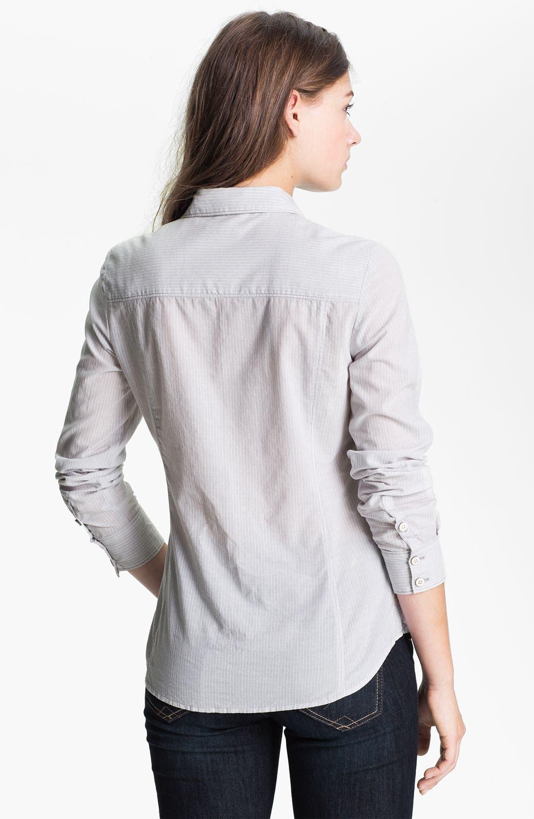 CASLON<SUP>®</SUP>, Long Sleeve Shirt, Alternate thumbnail 2, color, 020