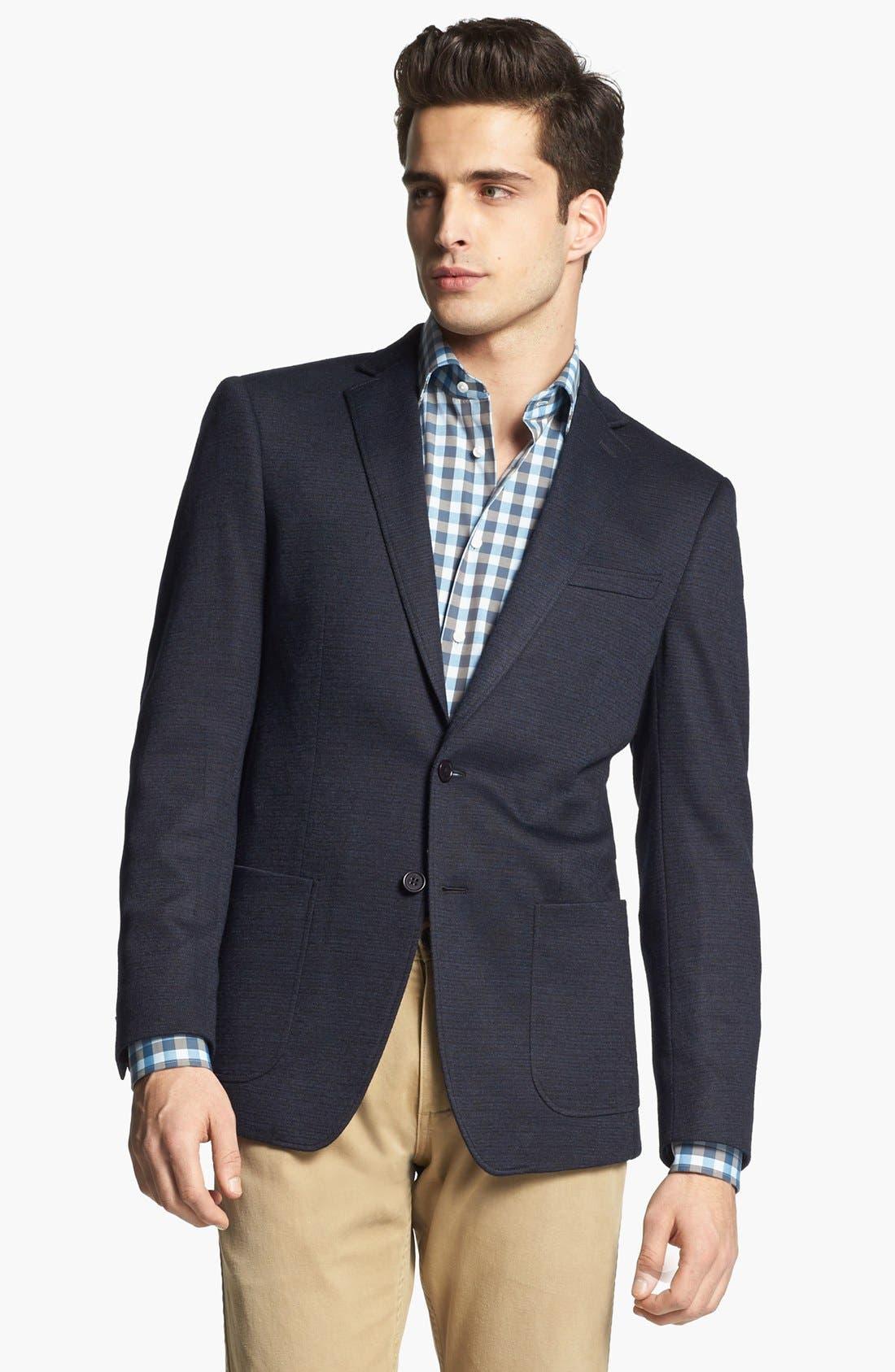 JOHN VARVATOS STAR USA, 'Fagan' Trim Fit Knit Sportcoat, Main thumbnail 1, color, 410