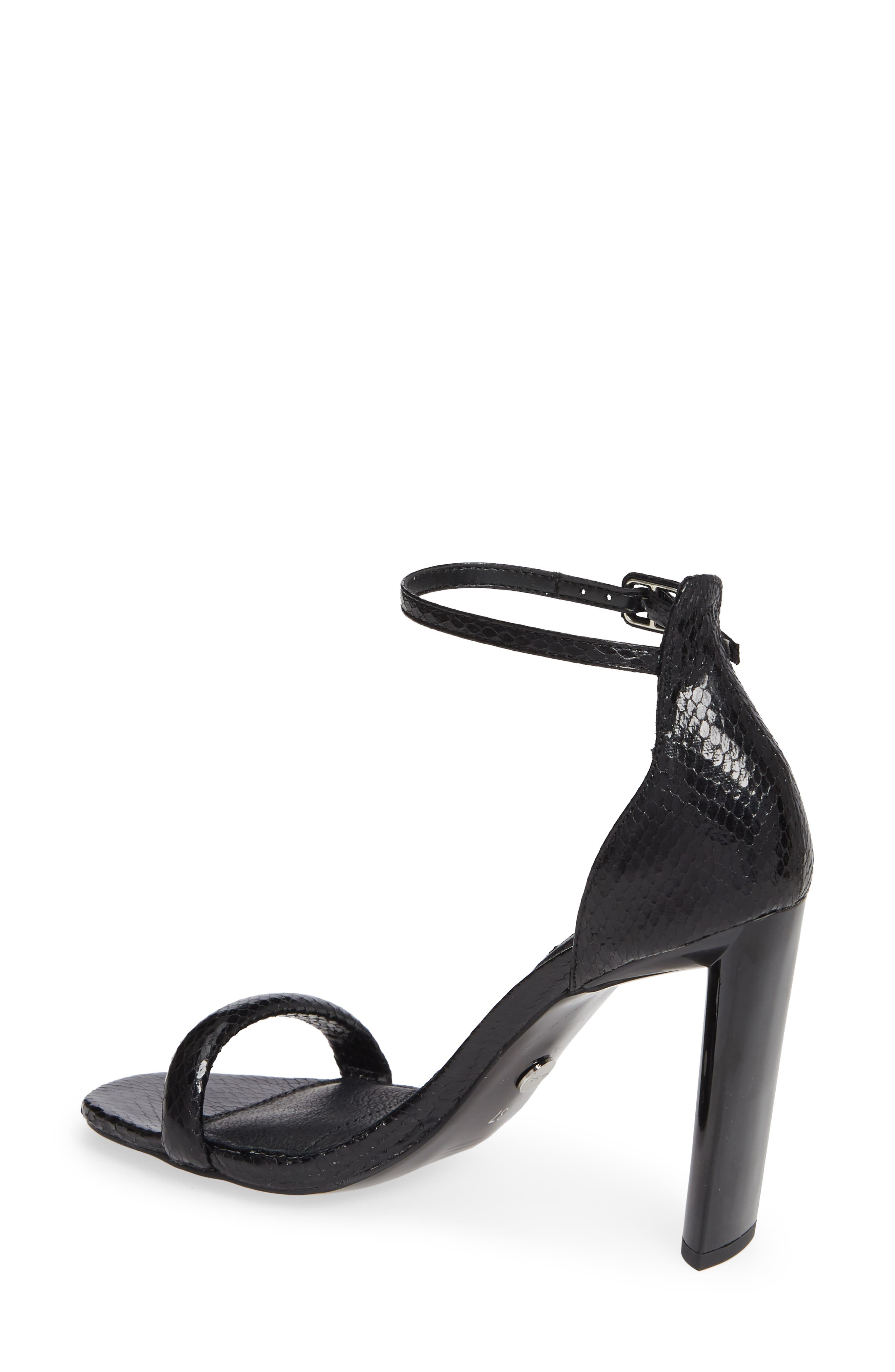 TOPSHOP, Robyn Ankle Strap Sandal, Alternate thumbnail 2, color, BLACK