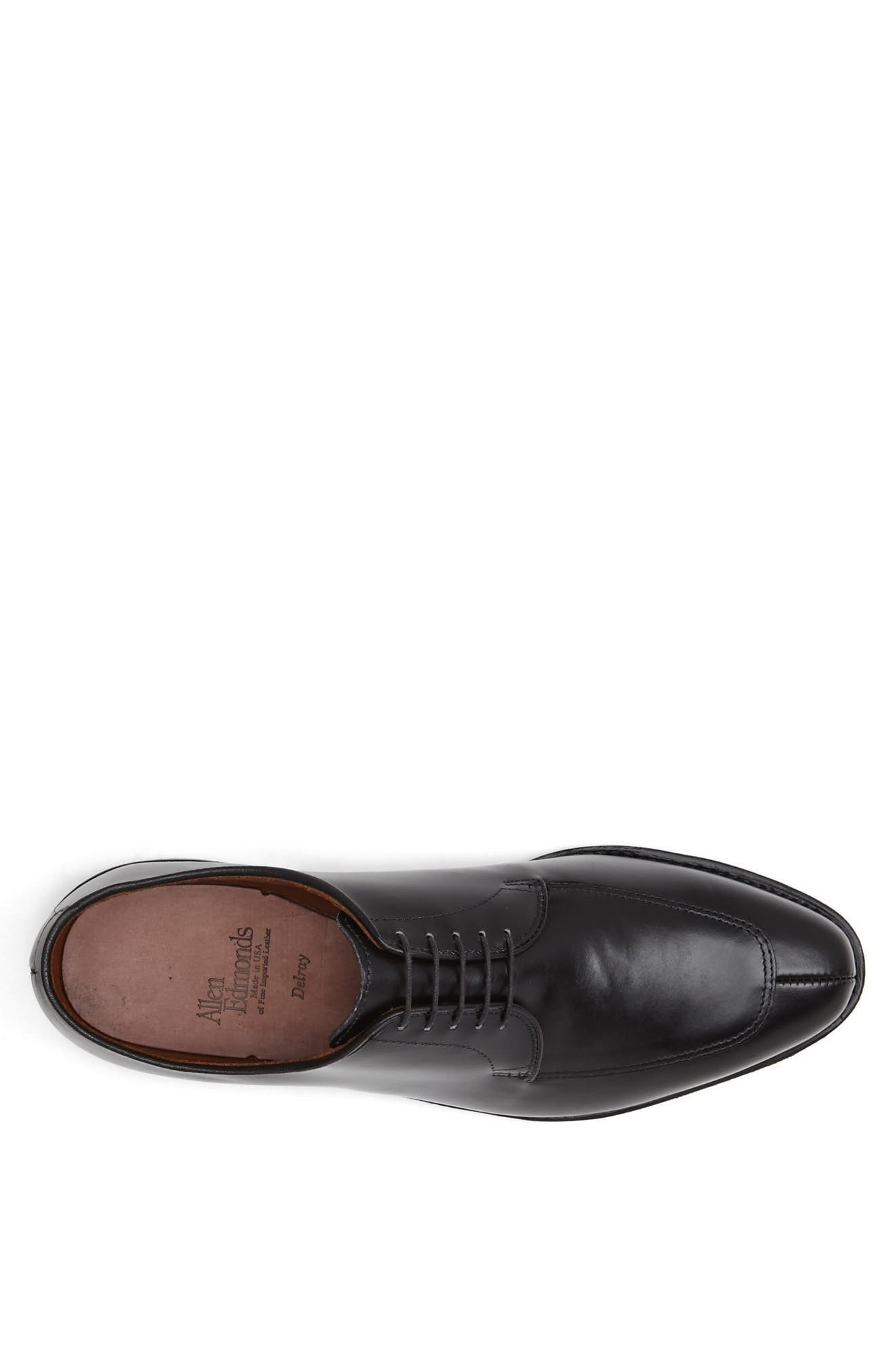 ALLEN EDMONDS, Delray Split Toe Derby, Alternate thumbnail 3, color, BLACK