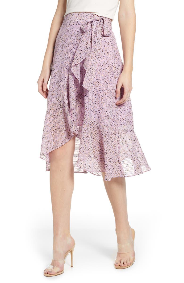 J.o.a. Skirts FLOUNCED WRAP SKIRT