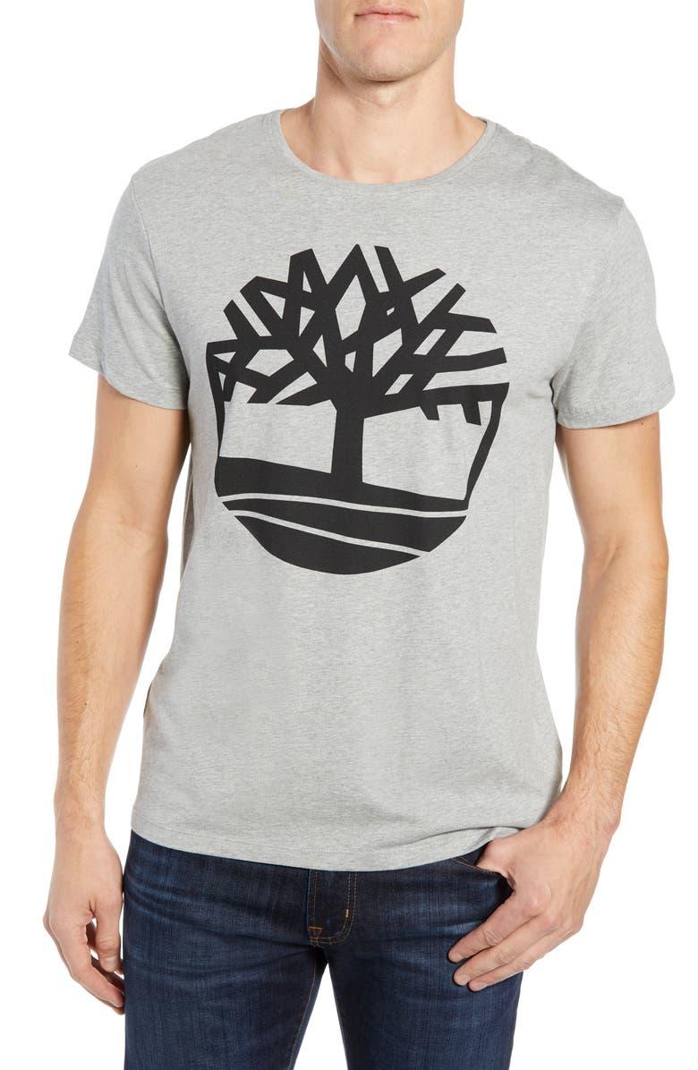 f94f03bf586 Timberland Men's Big Tree Logo T-Shirt, Grey | ModeSens