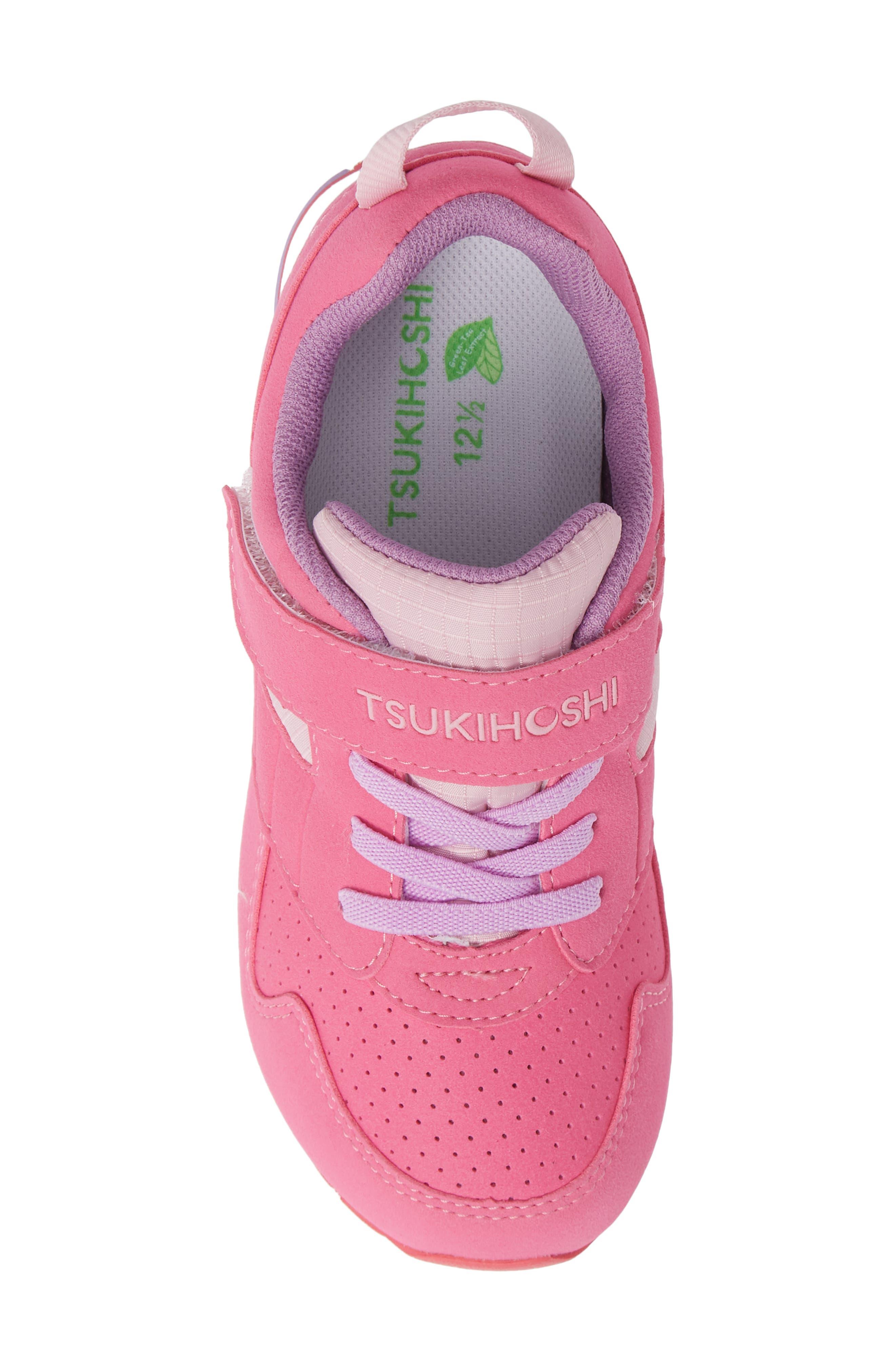 TSUKIHOSHI, Racer Washable Sneaker, Alternate thumbnail 5, color, FUCHSIA/ PINK