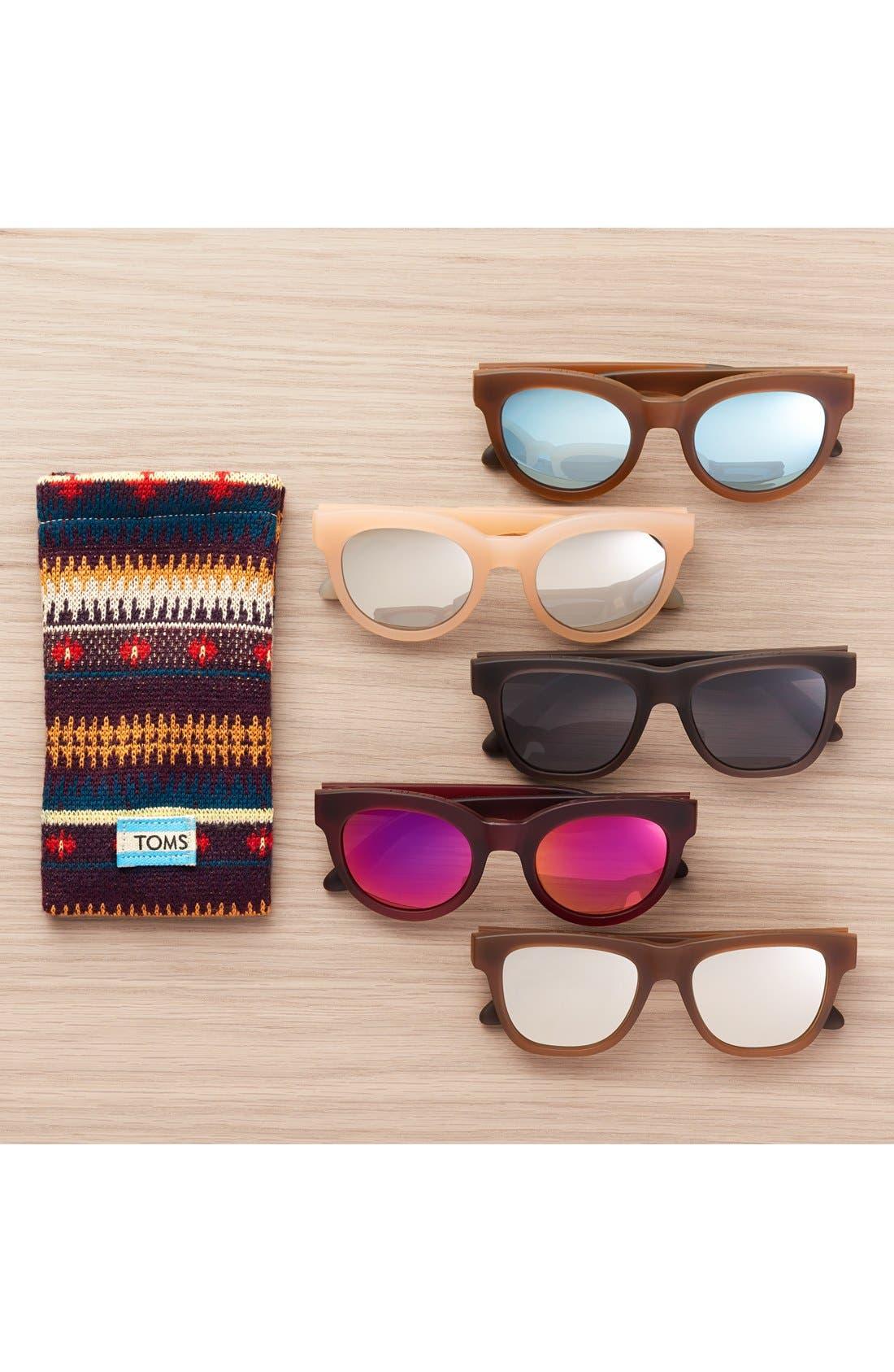 TOMS, 'Florentin' 54mm Retro Sunglasses, Alternate thumbnail 3, color, 200