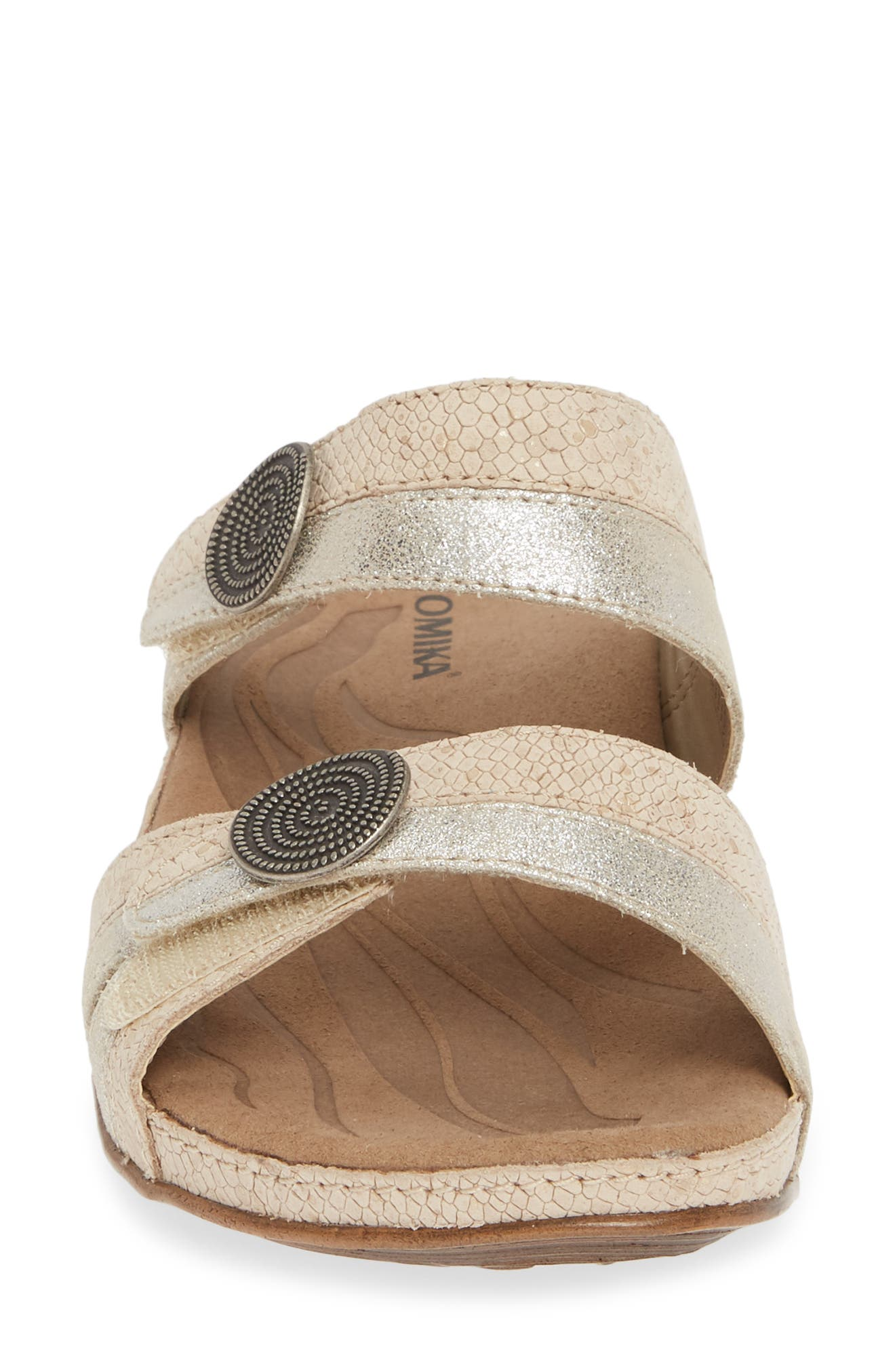 ROMIKA<SUP>®</SUP>, 'Fidschi 22' Sandal, Alternate thumbnail 4, color, SILVER LEATHER