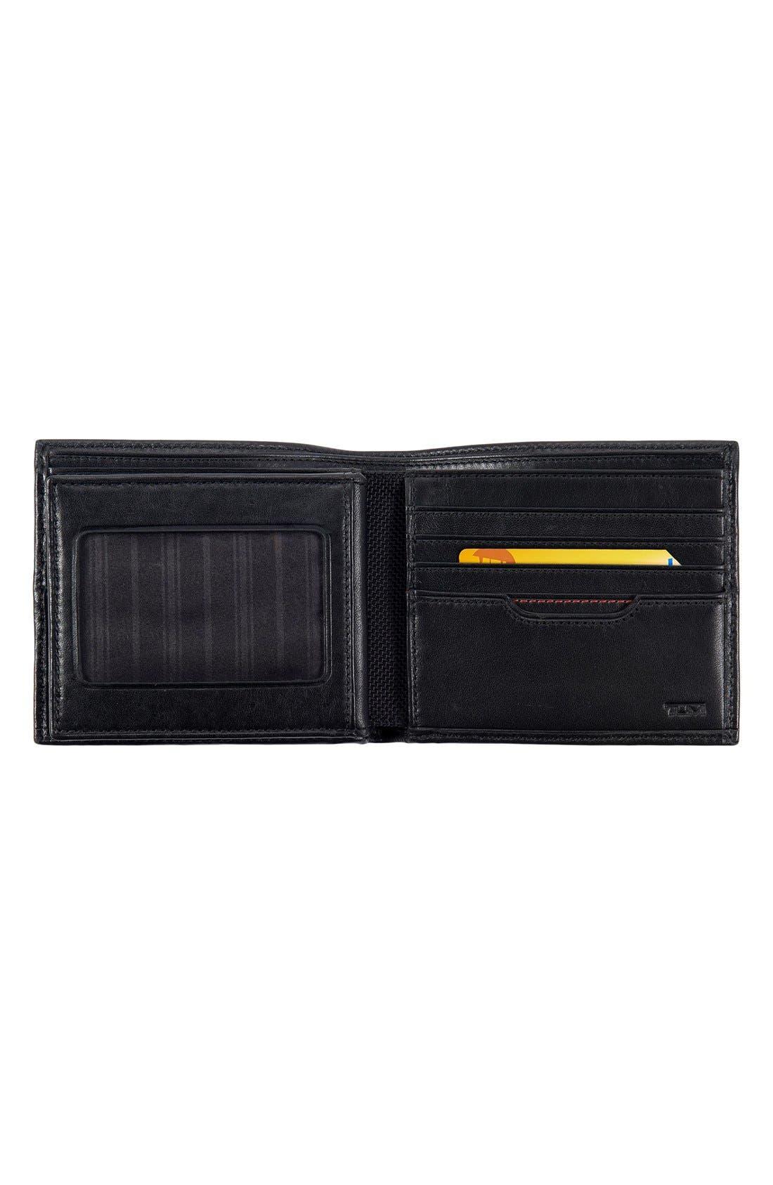 TUMI, Delta Global - ID Lock<sup>™</sup> Shielded Center Flip ID Passcase, Alternate thumbnail 3, color, BLACK
