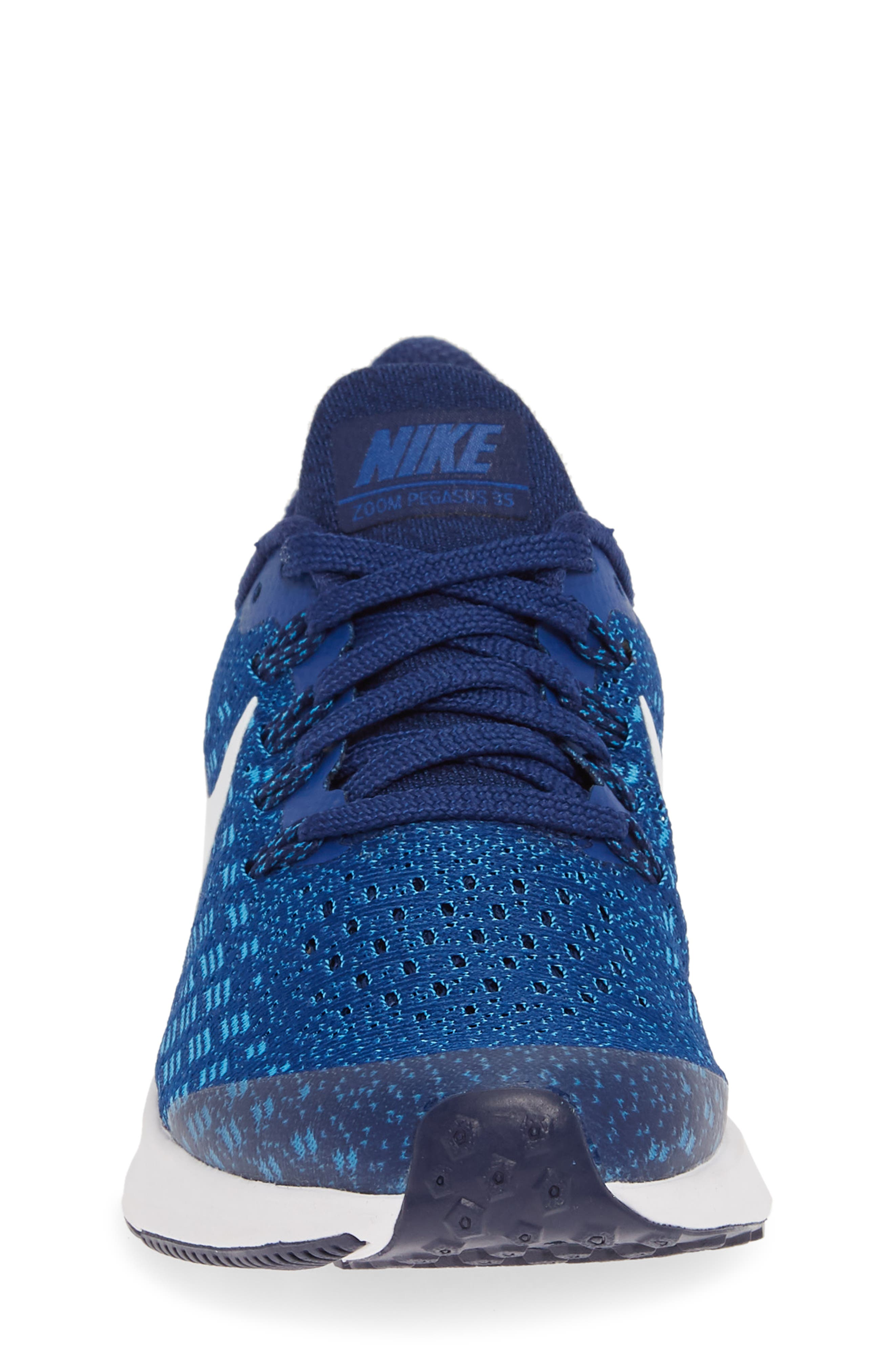 NIKE, Air Zoom Pegasus 35 Sneaker, Alternate thumbnail 4, color, INDIGO FORCE/ WHITE-BLUE-BLUE