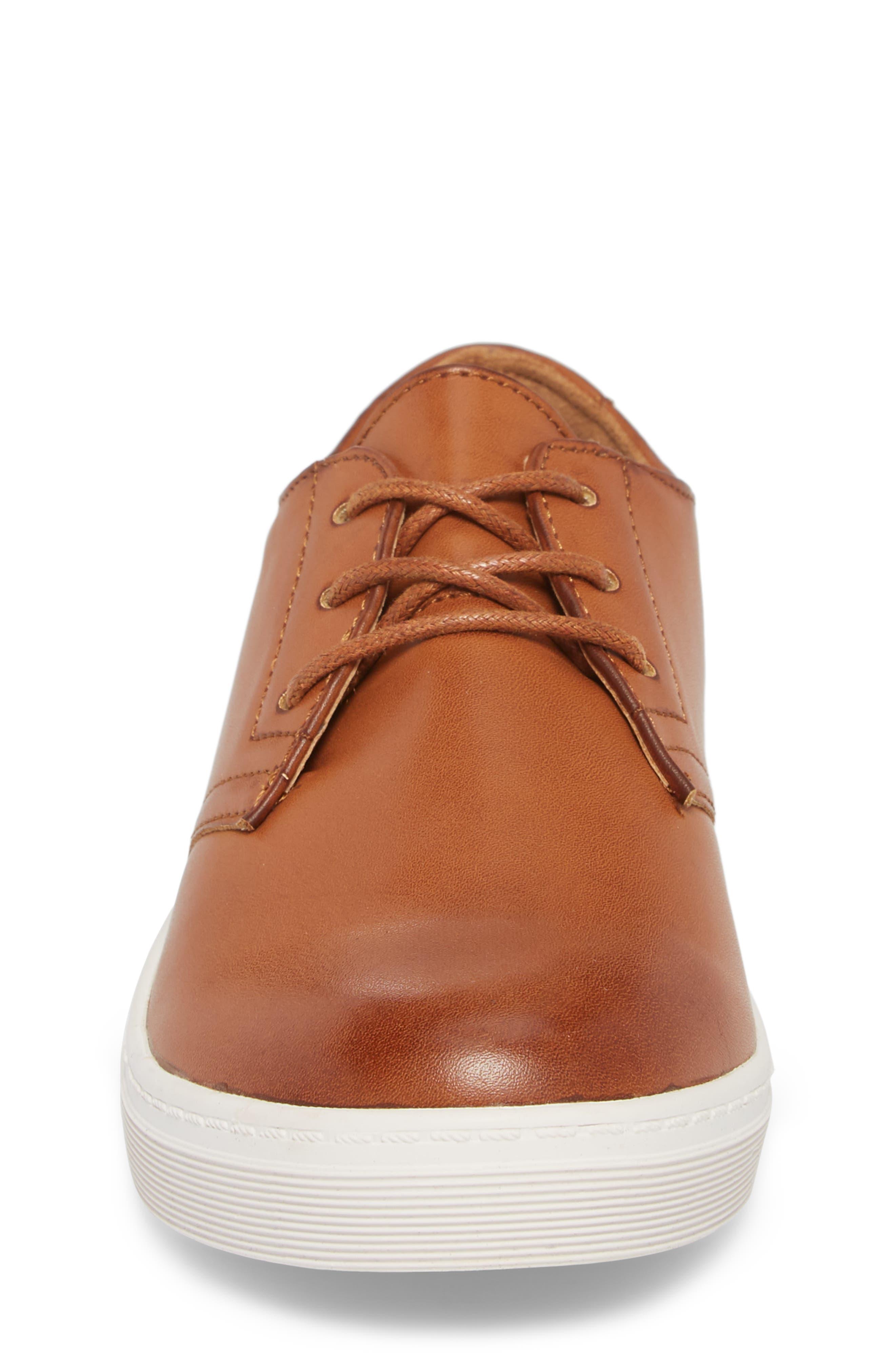 ORIGINAL PENGUIN, Freeland Sneaker, Alternate thumbnail 4, color, COGNAC