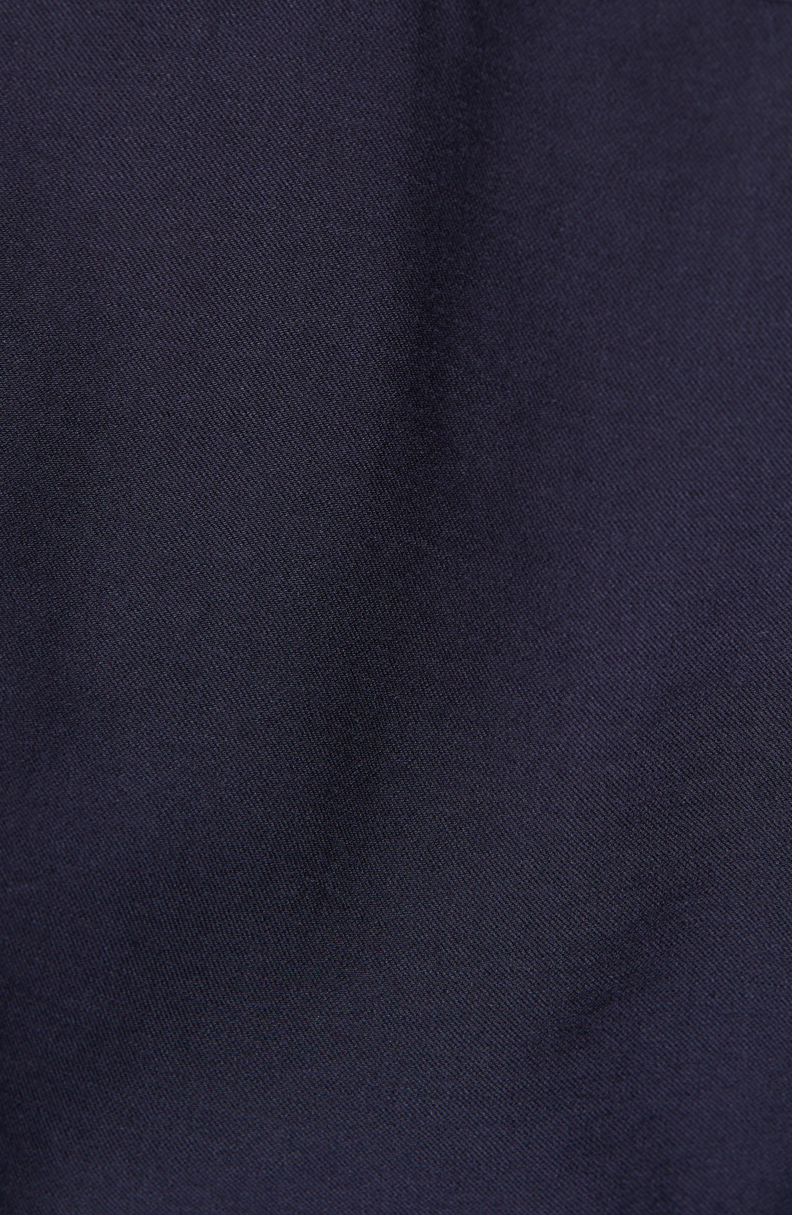 VINCE, Utility Shirtdress, Alternate thumbnail 5, color, MARINE