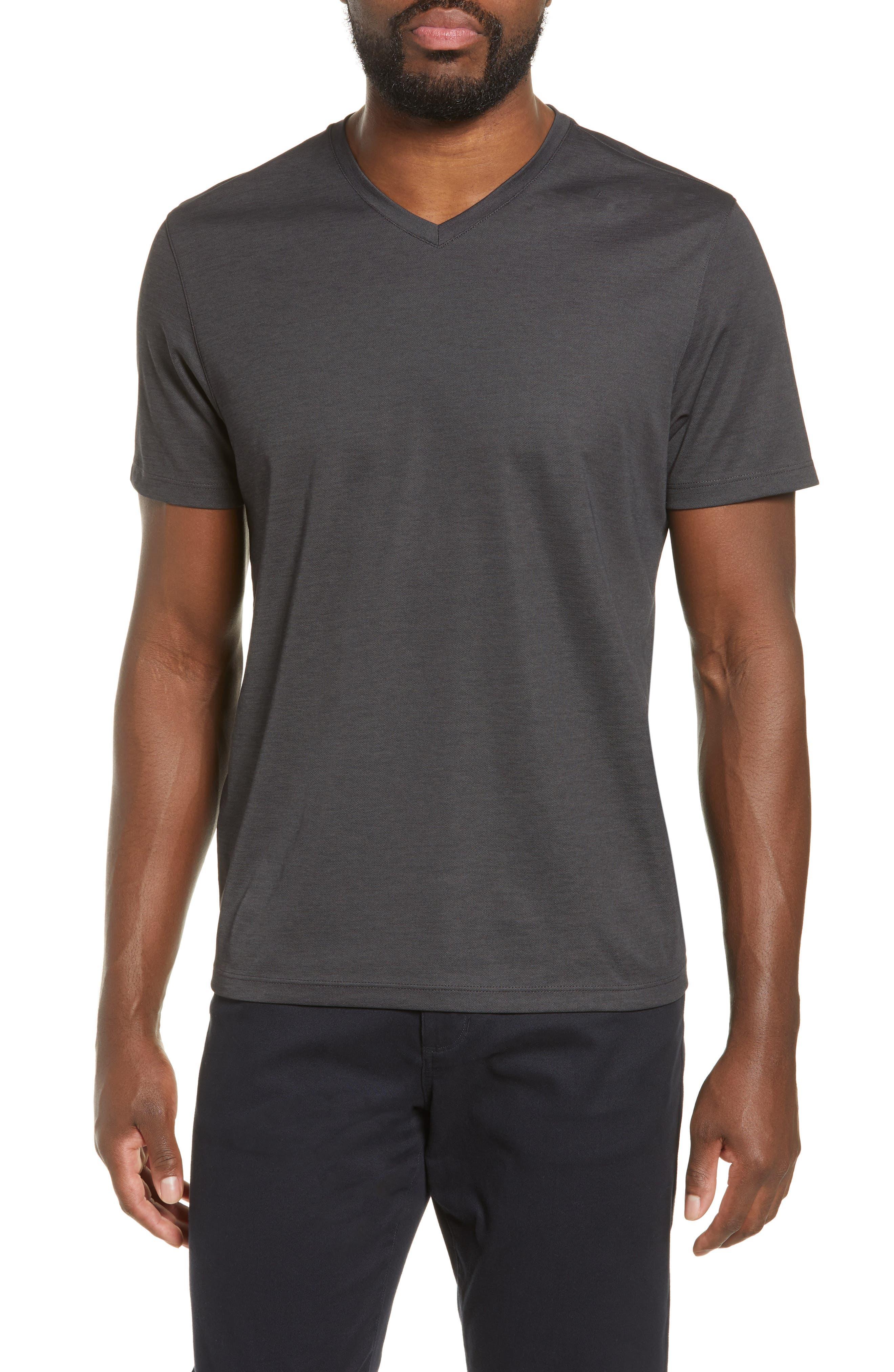 ZACHARY PRELL Brookville Regular Fit Piqué T-Shirt, Main, color, BLACK